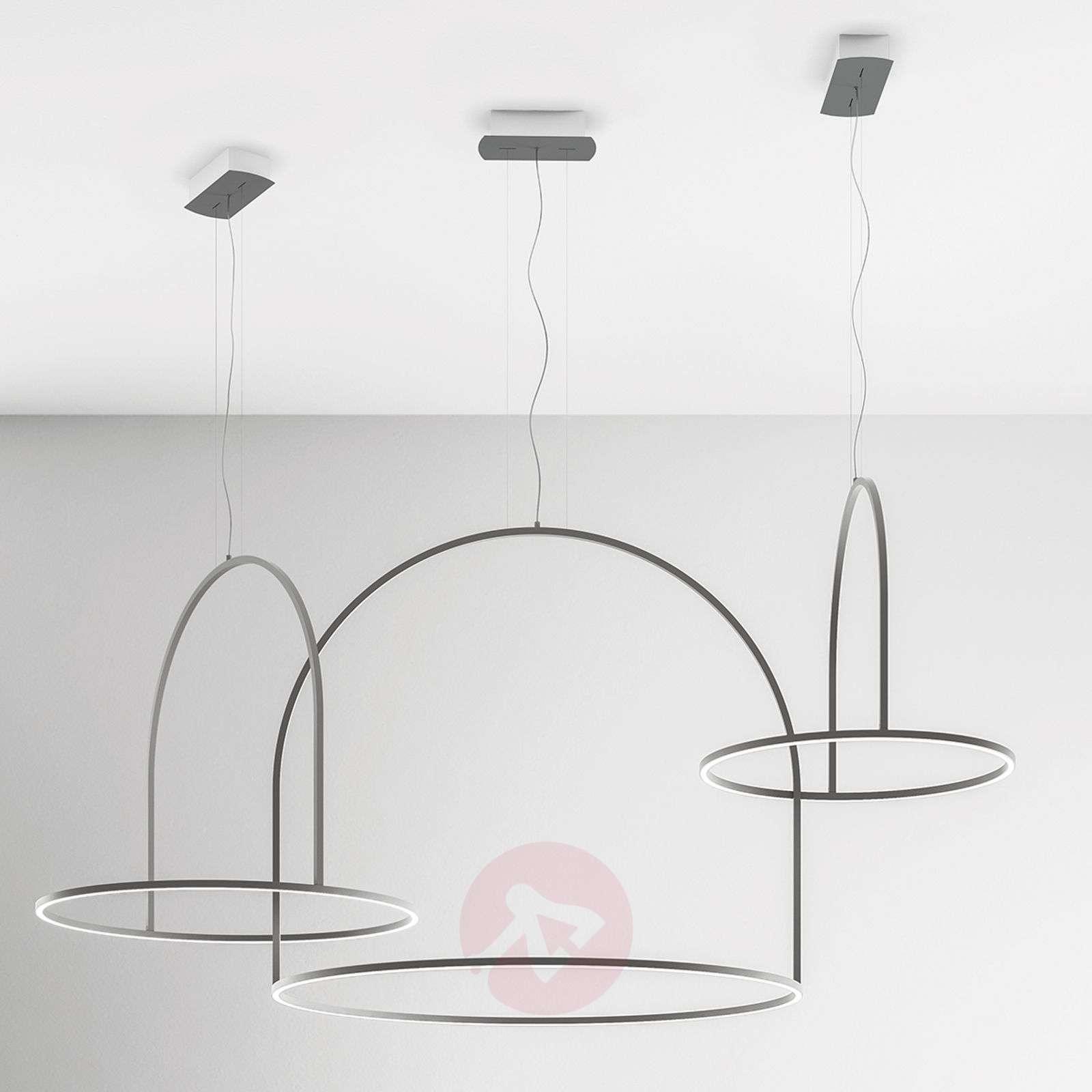 Epätavallinen U-Light-LED riippuvalaisin, harmaa-1088119-01