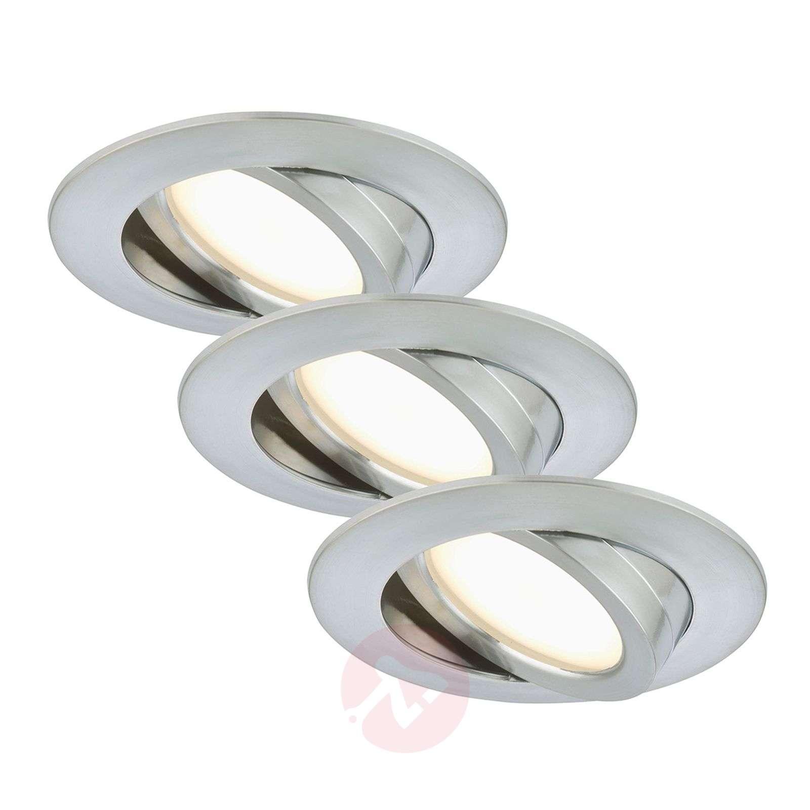 Erik-LED-uppokohdevalo, 3 kpl – käännettävä, alu-1510286-01