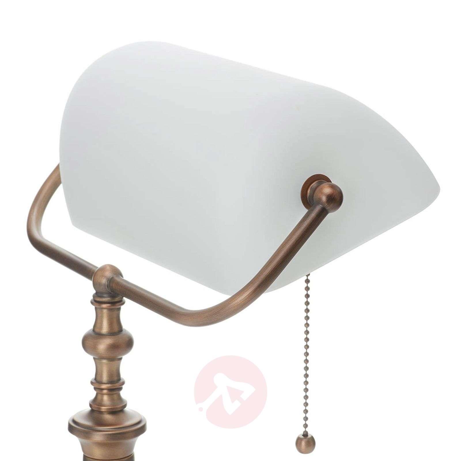 Erikoinen Classical-pankkiirilamppu, valkoinen-8509350-01