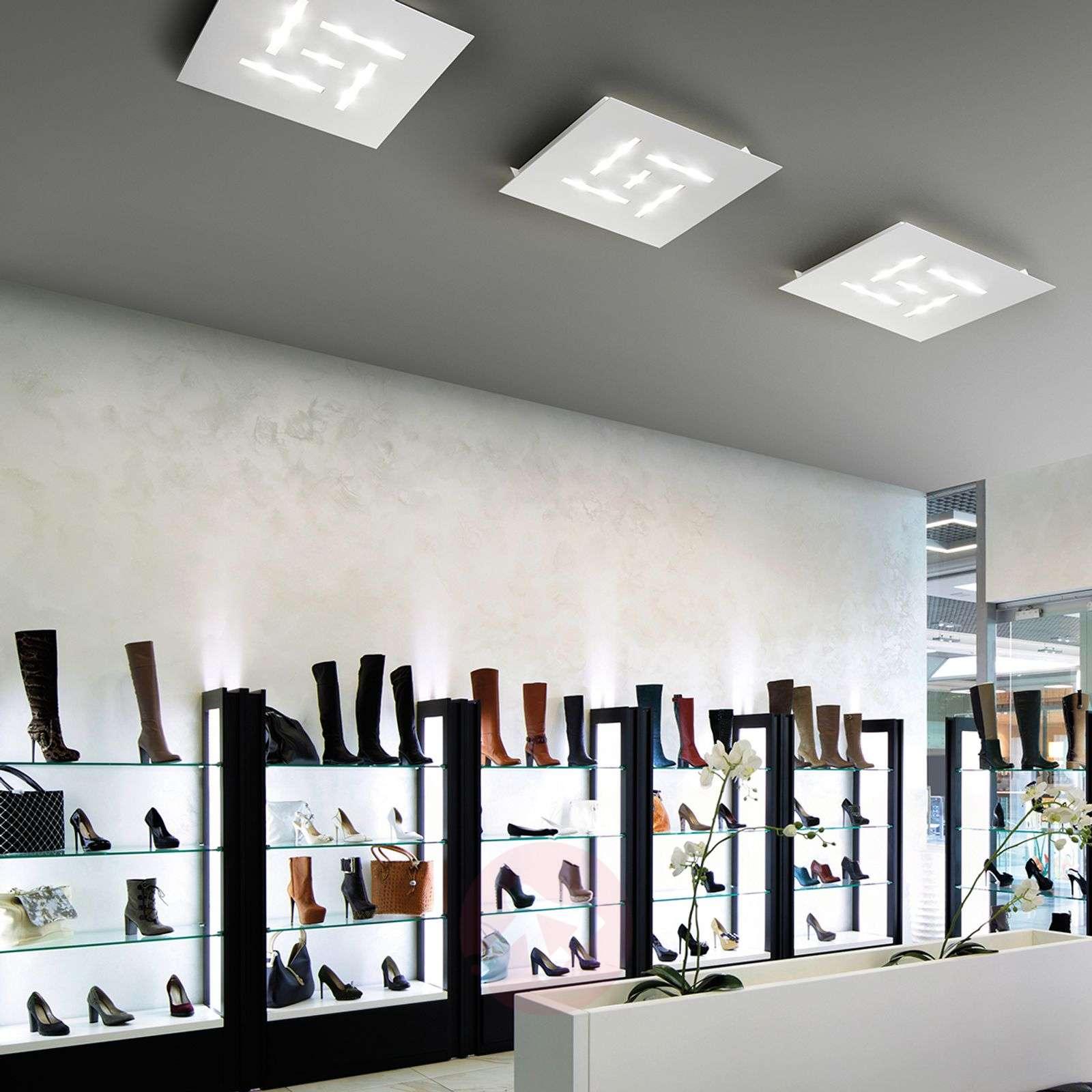 Erittäin litteä LED-kattovalaisin Pattern, valk.