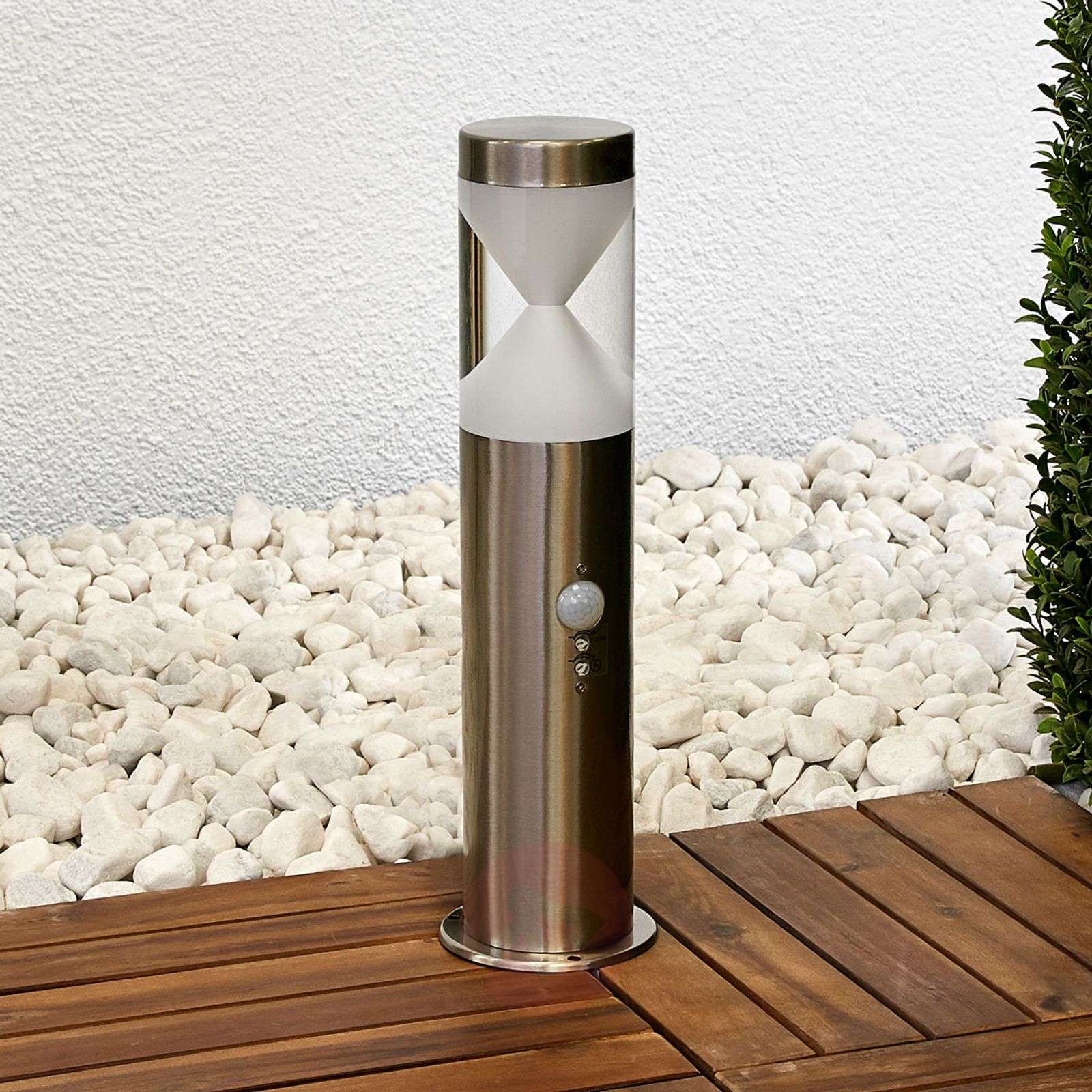 Fabrizio-LED-pylväsvalaisin liiketunnistimella-9988154-01