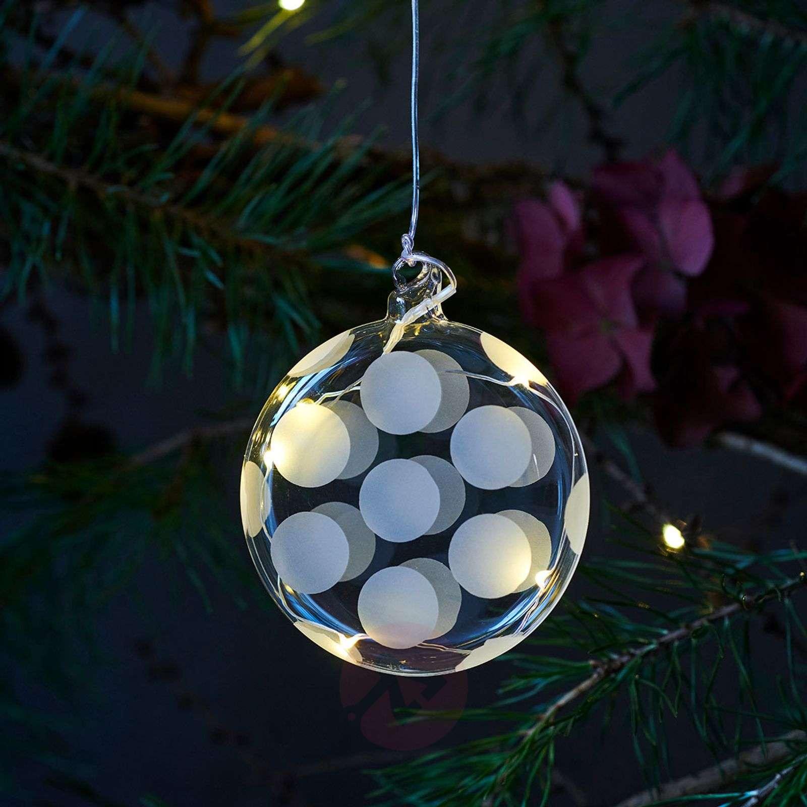 Filigraanityönä valmistettu LED-lasipallo Polka-8577247-01