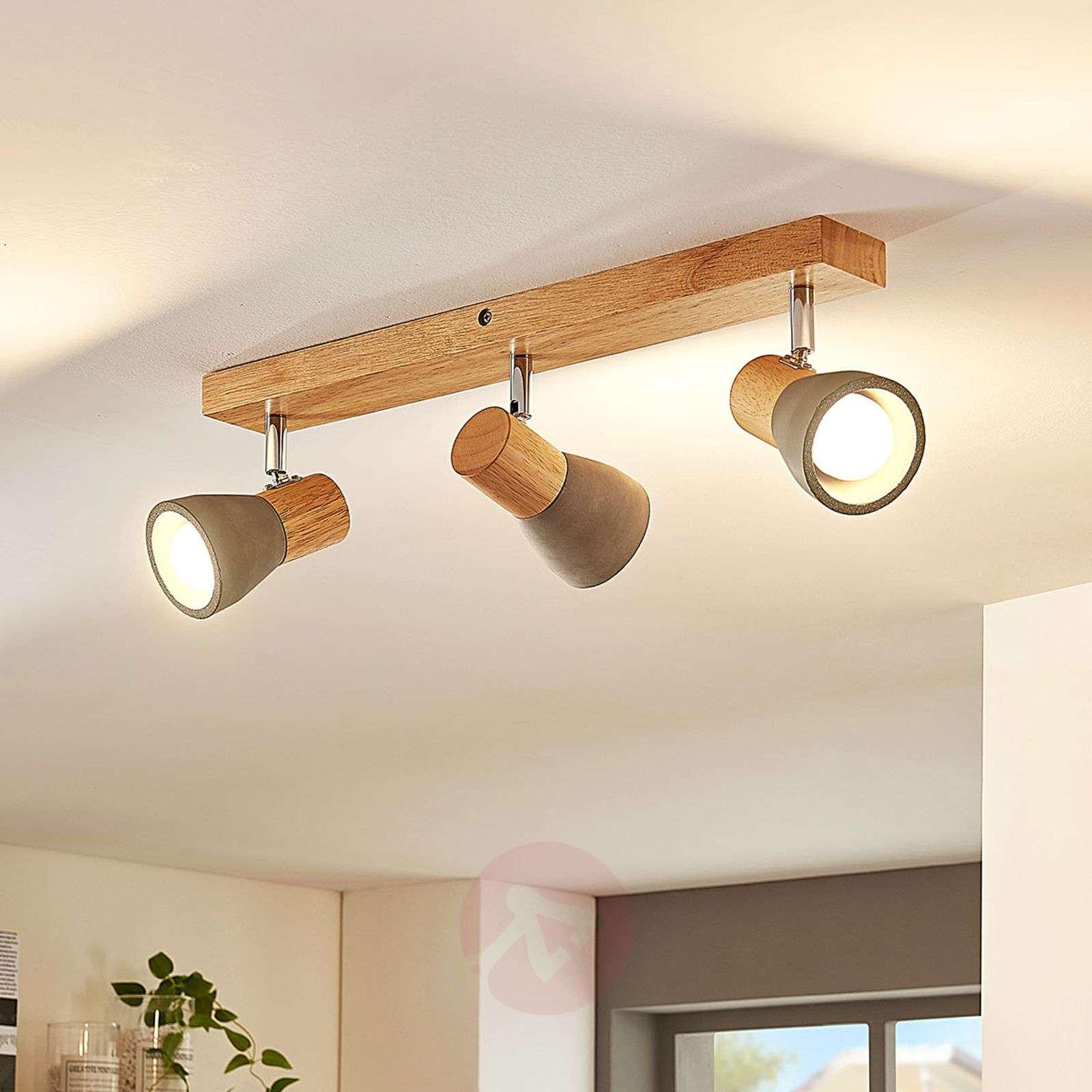 Filiz LED-kattovalaisin betonilla ja puulla-9621838-01