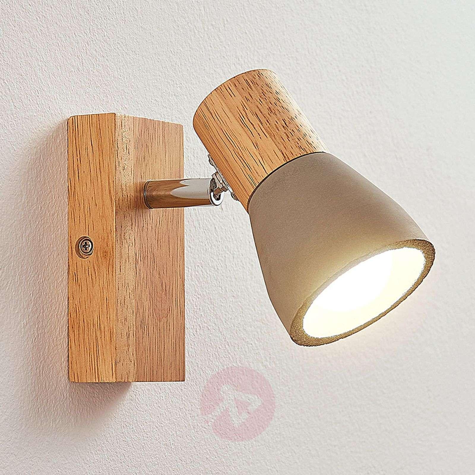 Filiz LED-kohdevalaisin puusta ja betonista-9621836-01