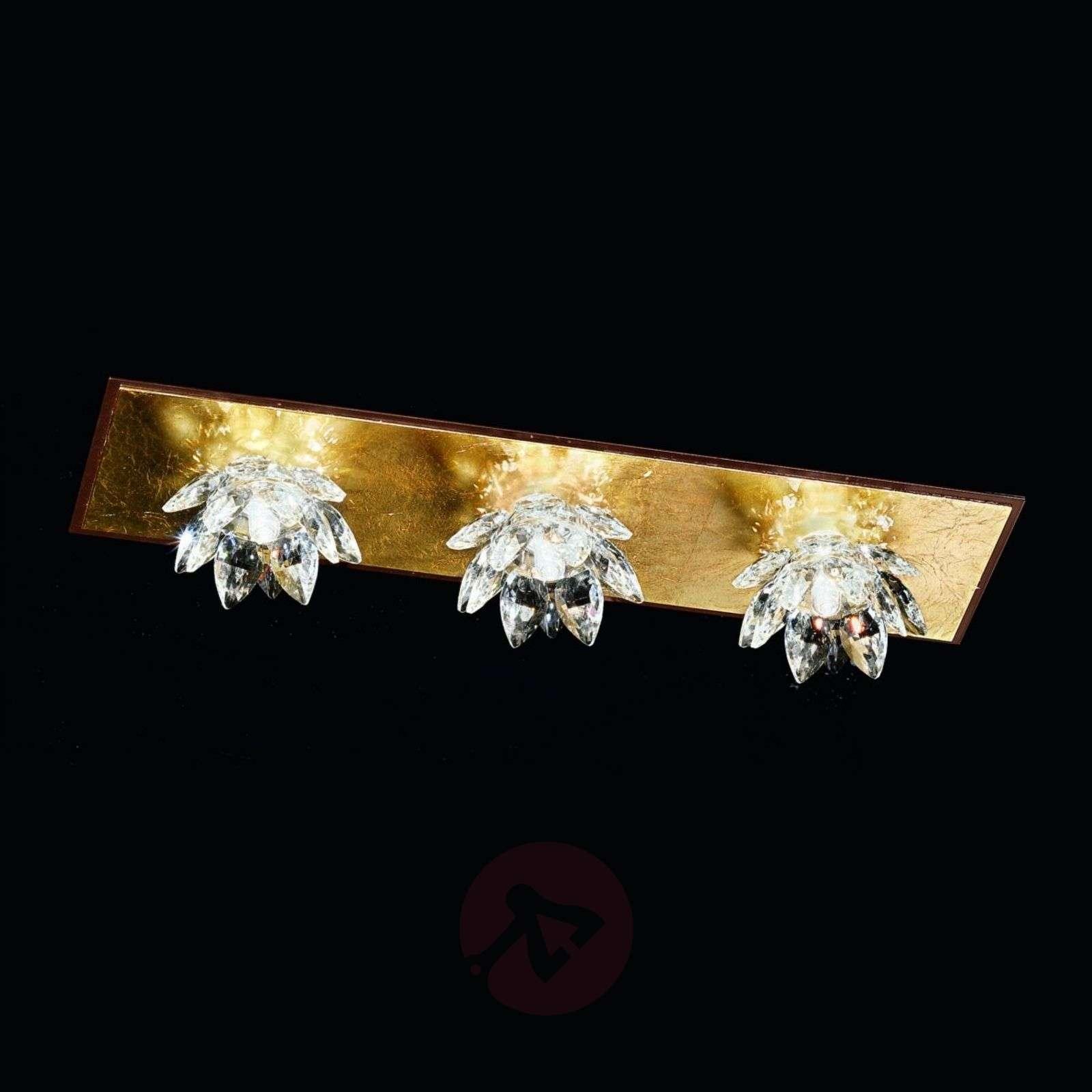 Fiore-kattovalaisin lehtikullalla ja kristallilla-5505543X-01
