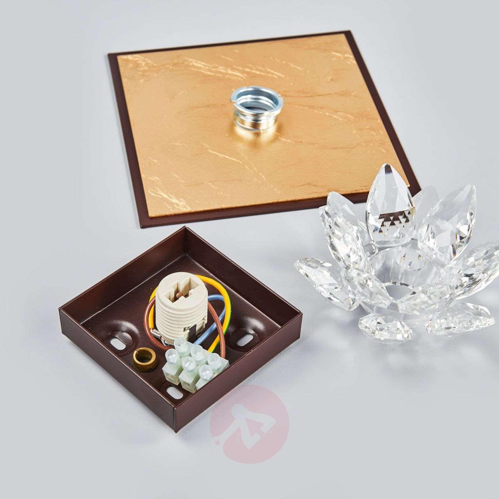 Fiore-kattovalo lehtikulta ja kristalli,1-lampp.-5505542-01