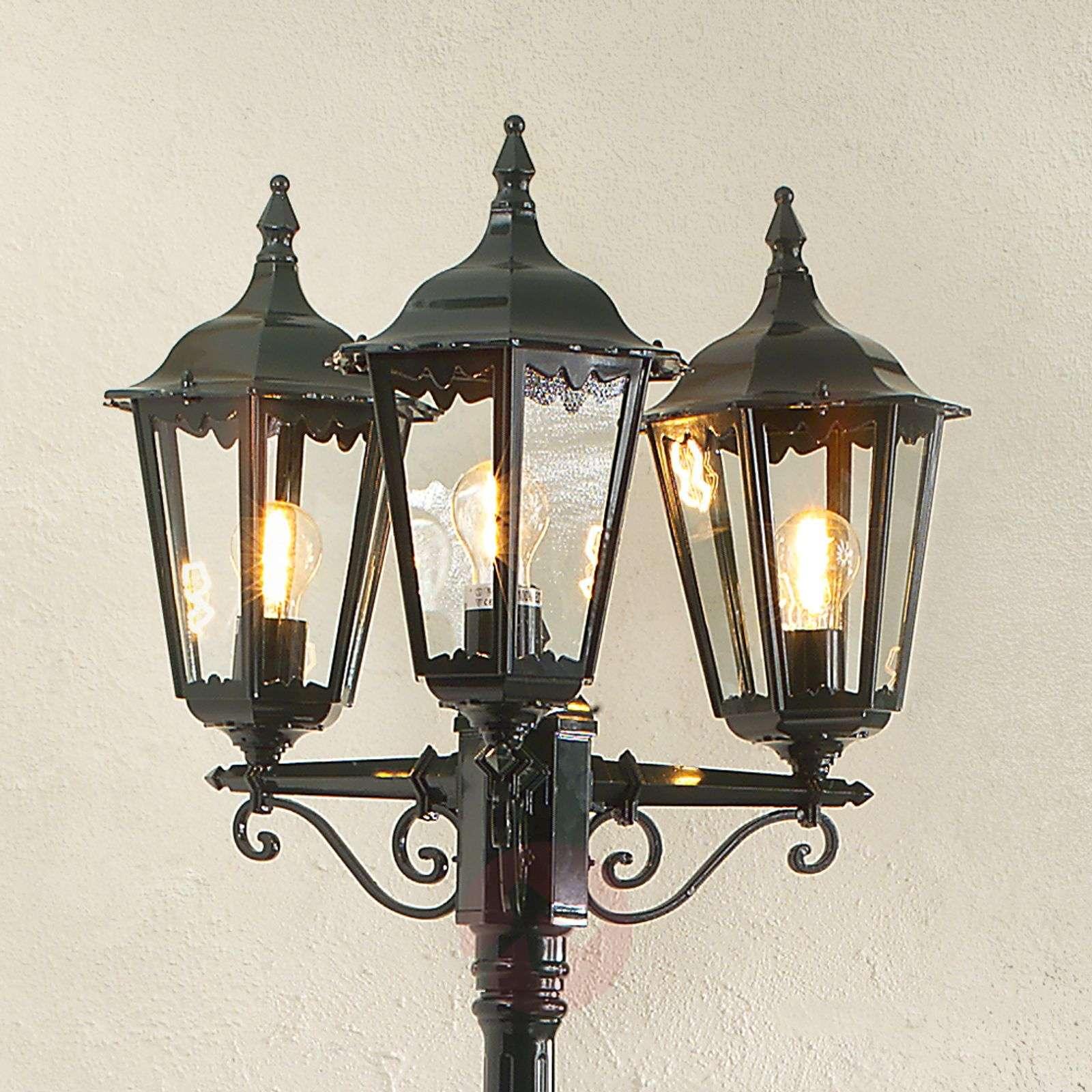 Firenze-lyhtypylväs, 3-lamppuinen, lyhtymäinen-5522175X-01