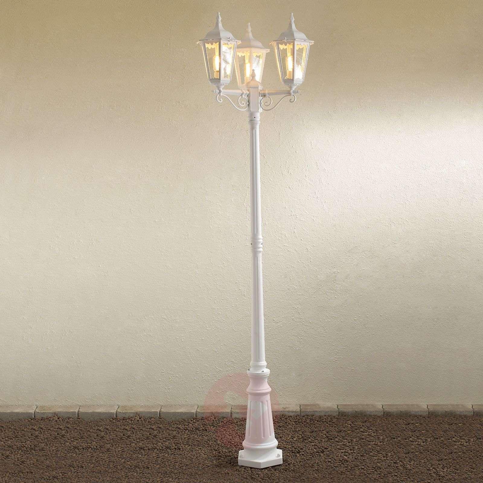 Firenze-lyhtypylväs, 3-lamppuinen, valkoinen-5522175-01