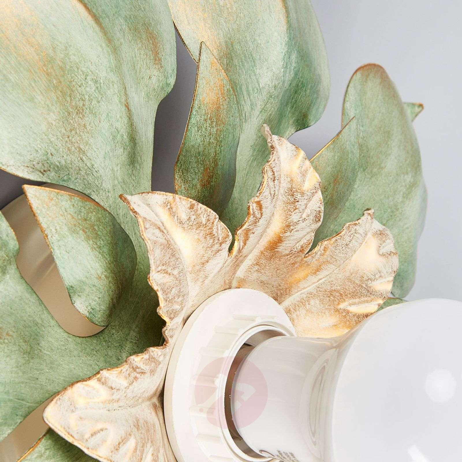 Firenzeläis antiikkivihreä seinävalo Blossom-7254529-01