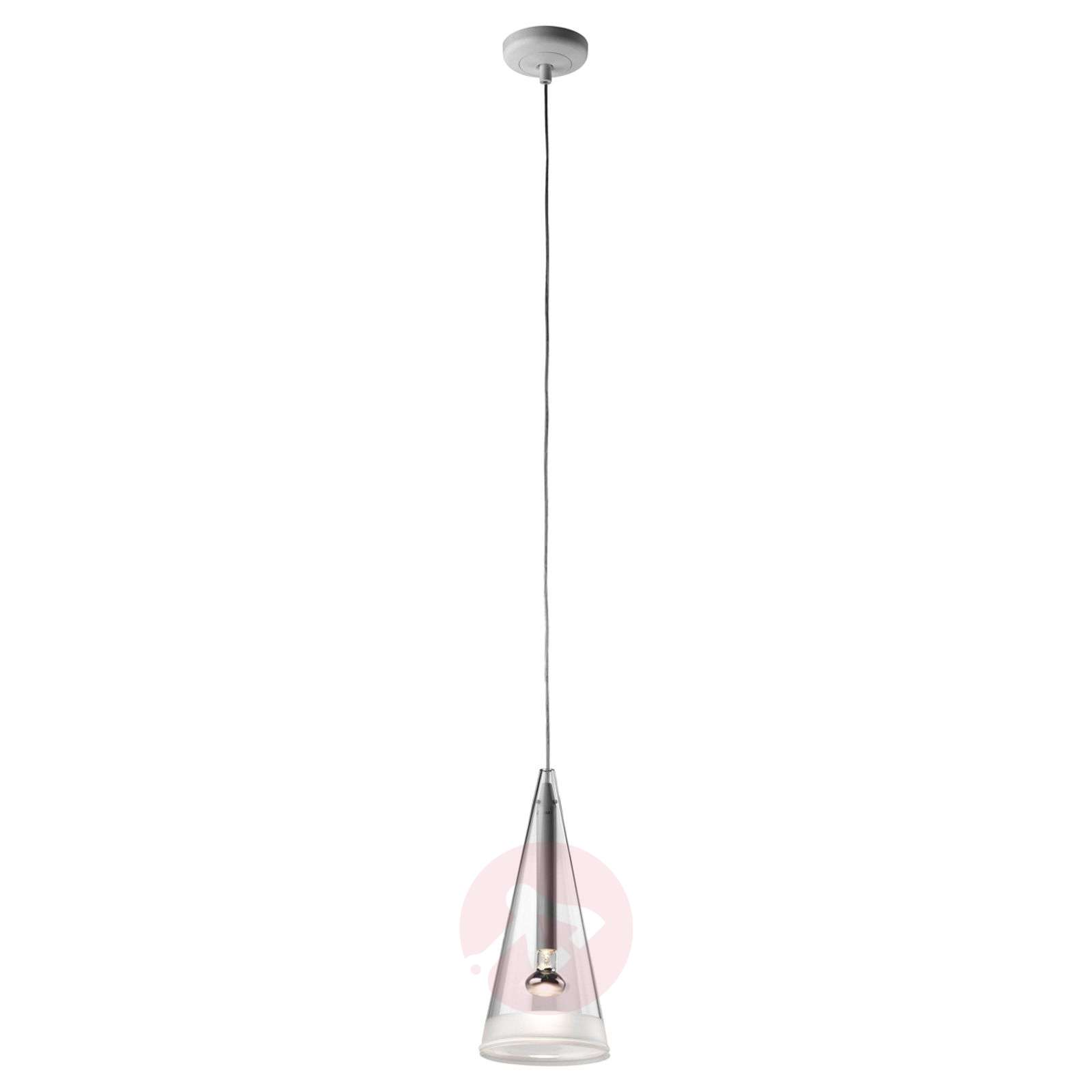 FLOS Fucsia -riippuvalaisin lasinen, 1--lamppuinen