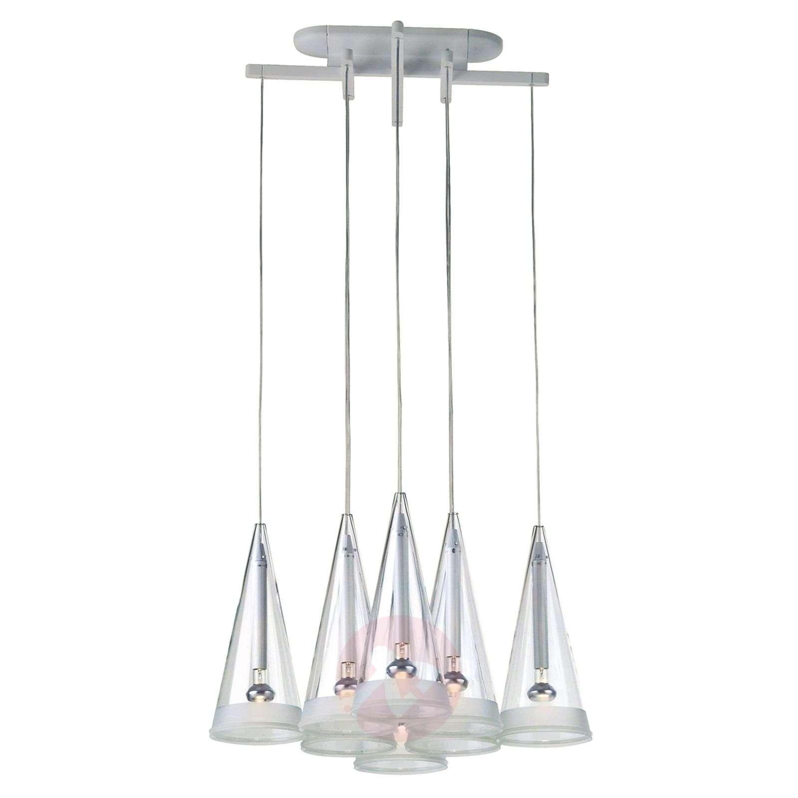 FLOS Fucsia-riippuvalaisin lasinen, 8-lamppuinen-3510314-04