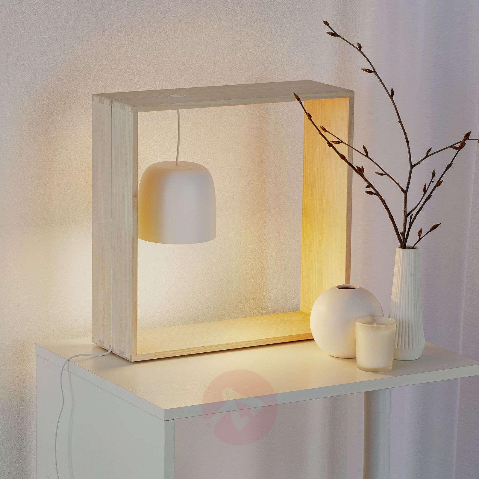 FLOS Gaku Wire LED-pöytävalaisin, valkoinen-3510512-01