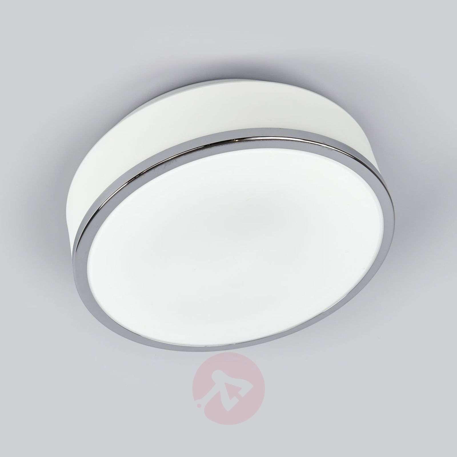 Flush-kattovalaisin hopea satinoitu IP44 23 cm