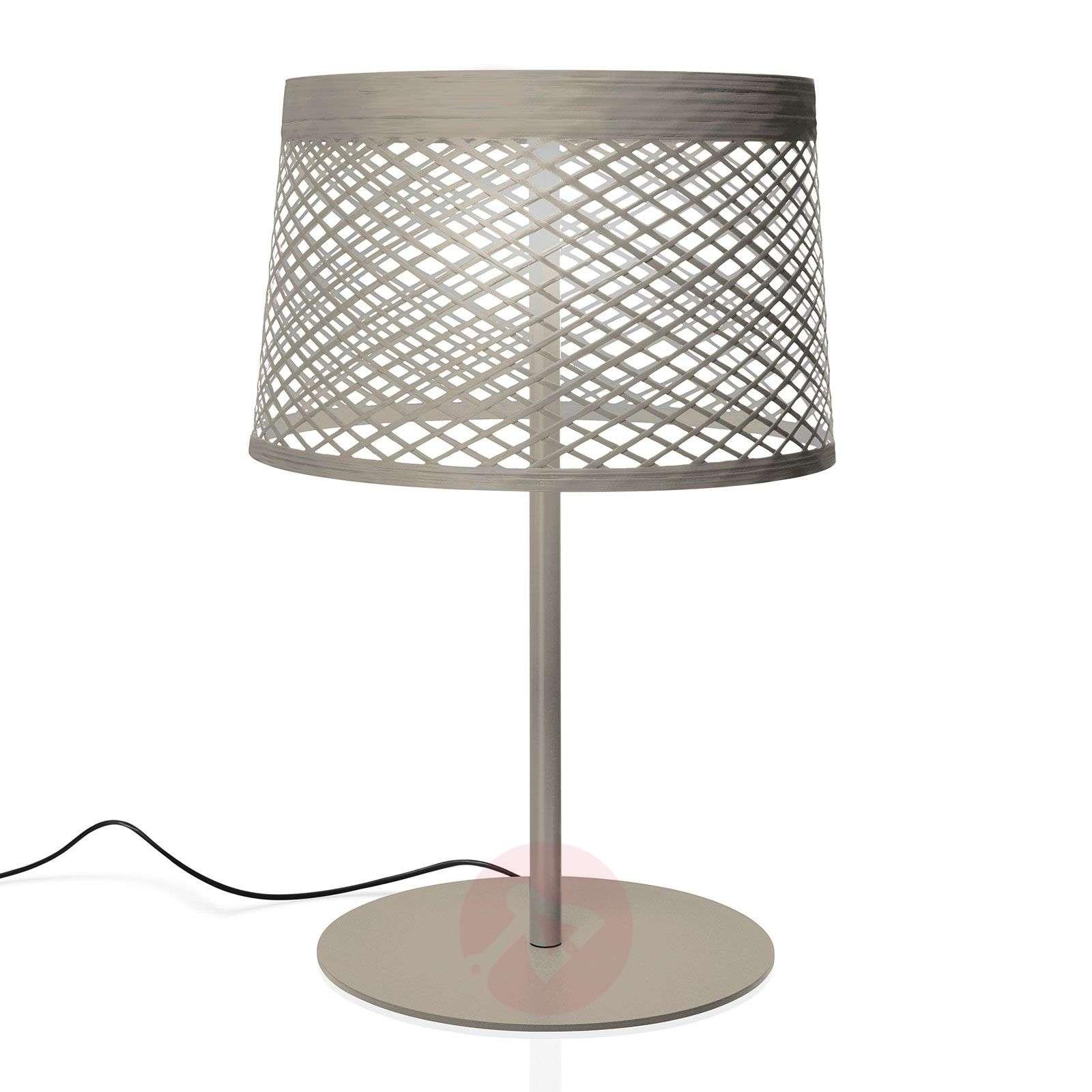 Foscarini Twiggy Grid XL LED -pöytävalaisin, greig