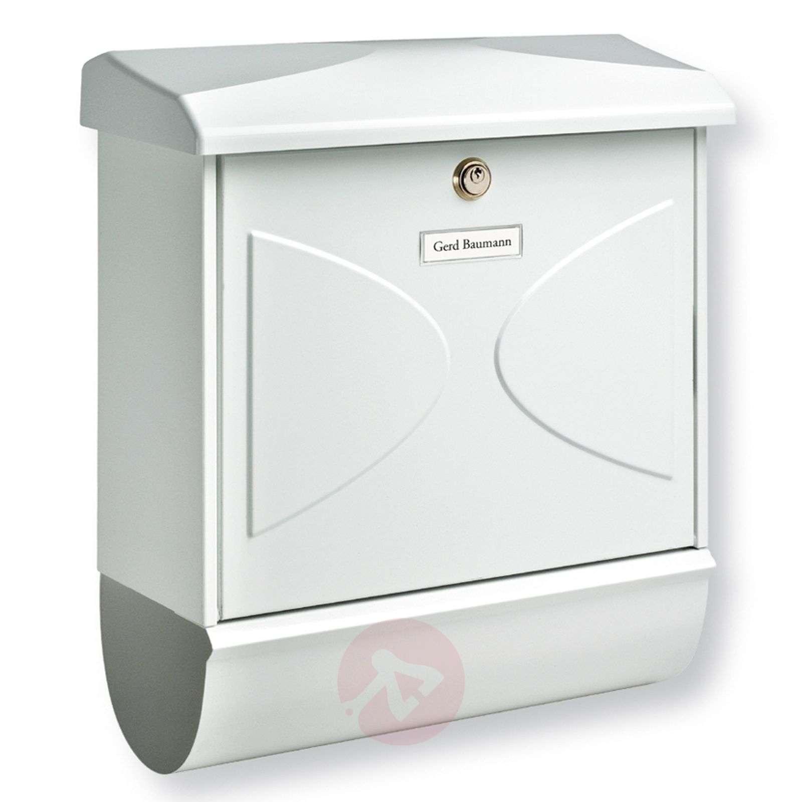 Futura-postilaatikko lehtirullalla, valkoinen-1532079-01