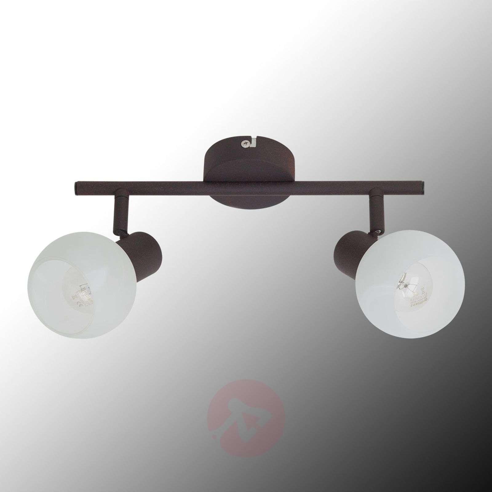 Gabon-kattovalaisin, ruskea-valkoinen, 2-lamppua-1508854-01
