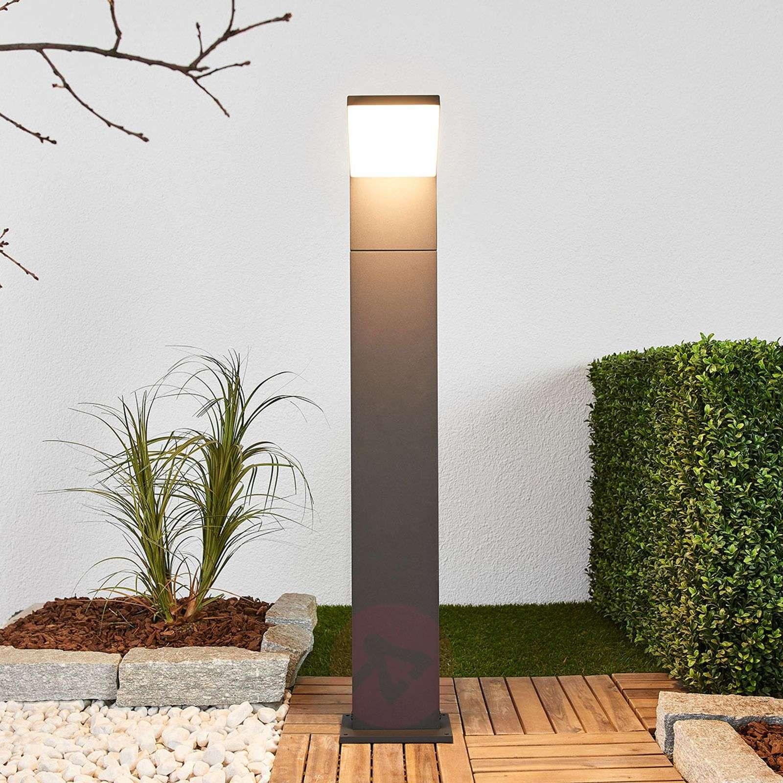Grafiitinharmaa LED-pollarivalaisin Yolena, 100 cm-9619120-03