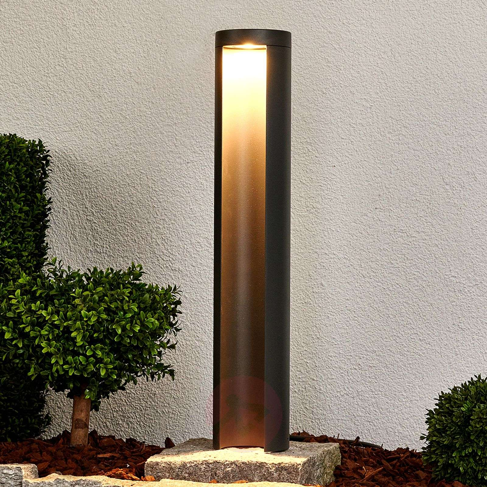 Grafiitinharmaa LED-pylväsvalaisin Jaron-9618069-02