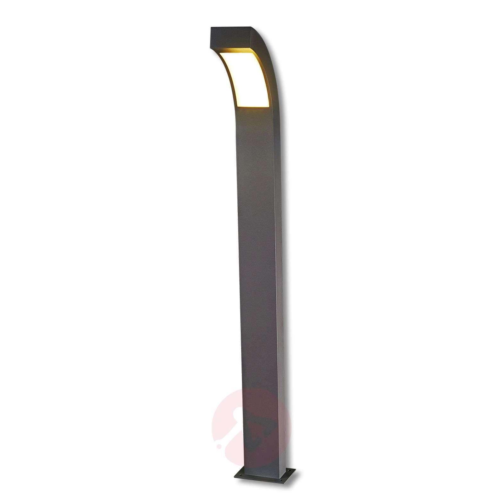 Grafiitinharmaa LED-pylväsvalaisin Lennik-9619006-04