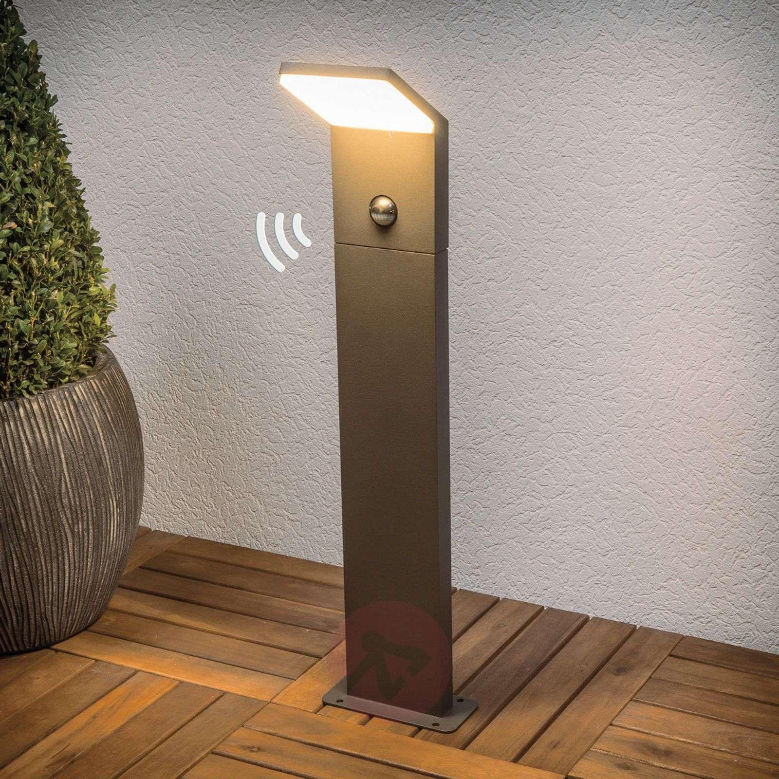 Grafiitinharmaa LED-pylväsvalaisin Nevio-9619043-02