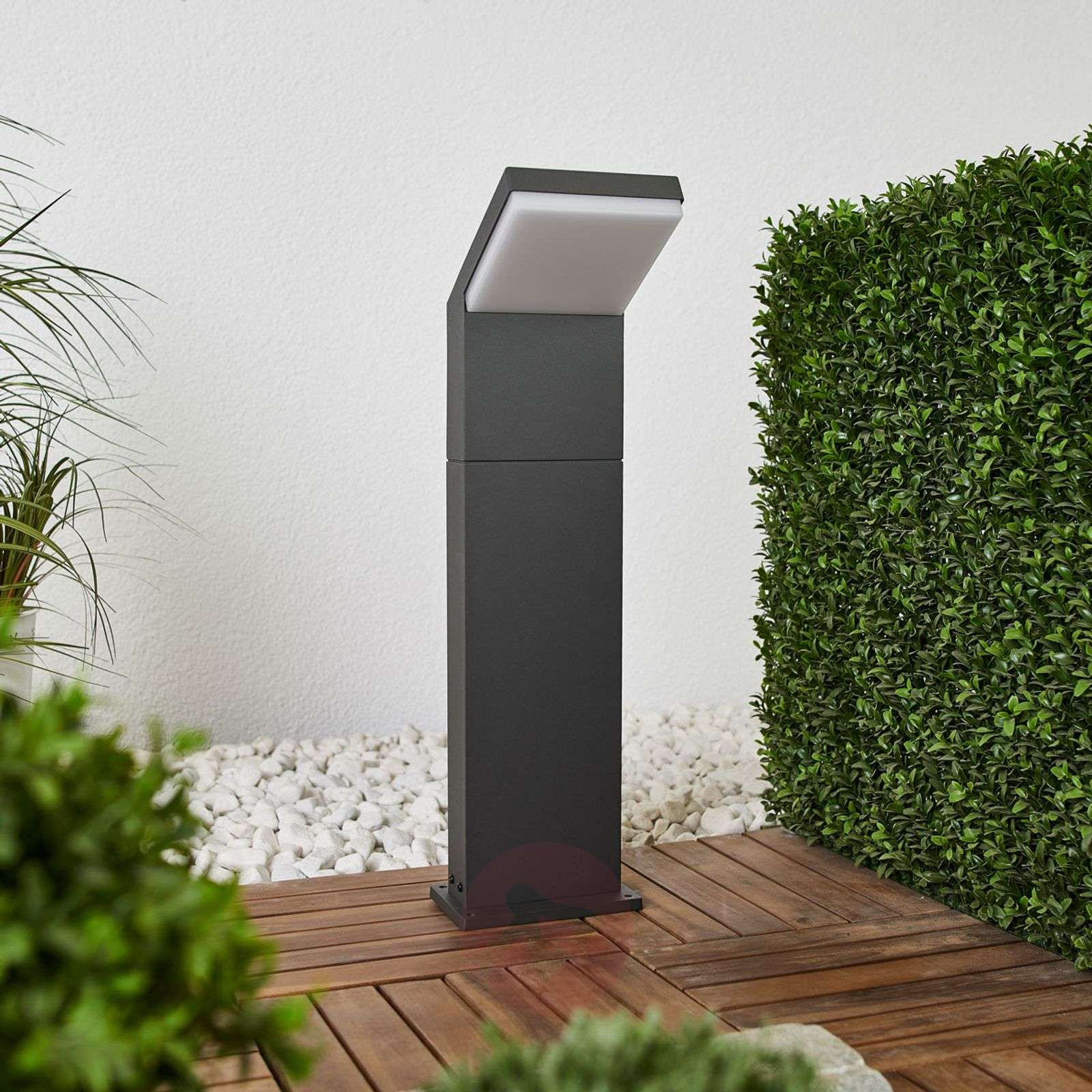 Grafiitinharmaa LED-pylväsvalaisin Yolena, 60 cm
