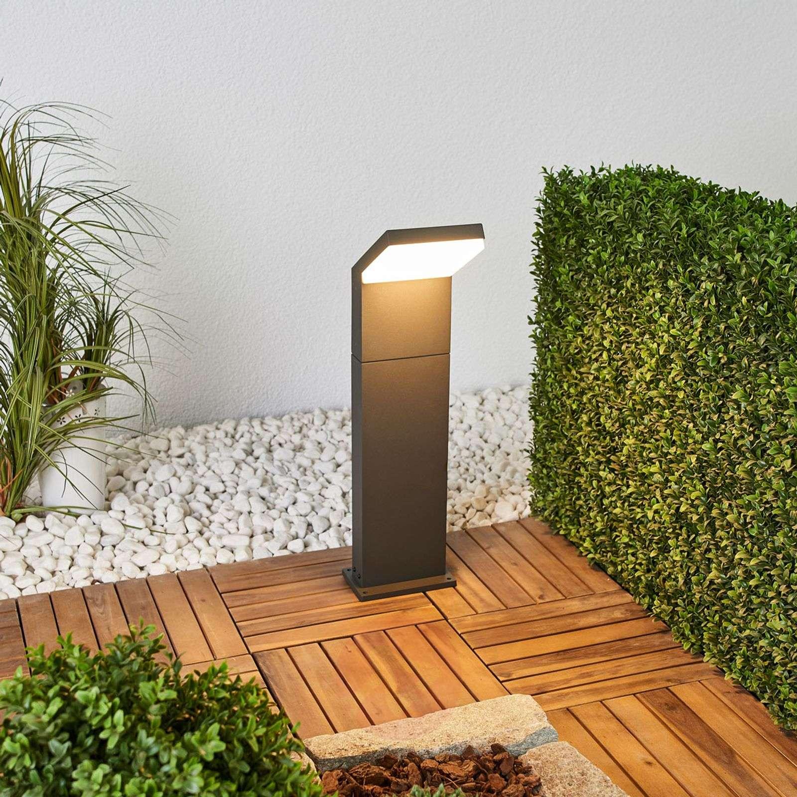 Grafiitinharmaa LED-pylväsvalaisin Yolena, 60 cm-9619119-02