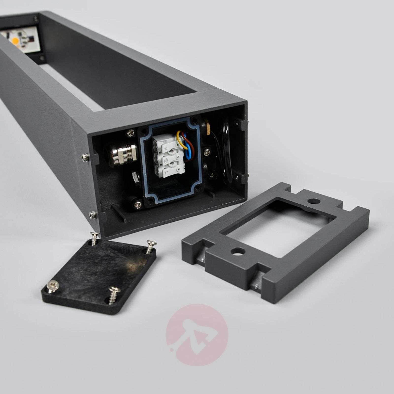 Grafiitinharmaa LED-pylväsvalo Jupp, 60 cm-9616120-01