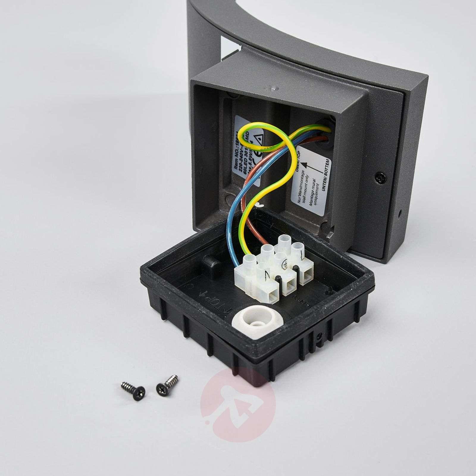 Grafiitinharmaa LED-ulkoseinävalaisin Juvia, IP54-9619123-09