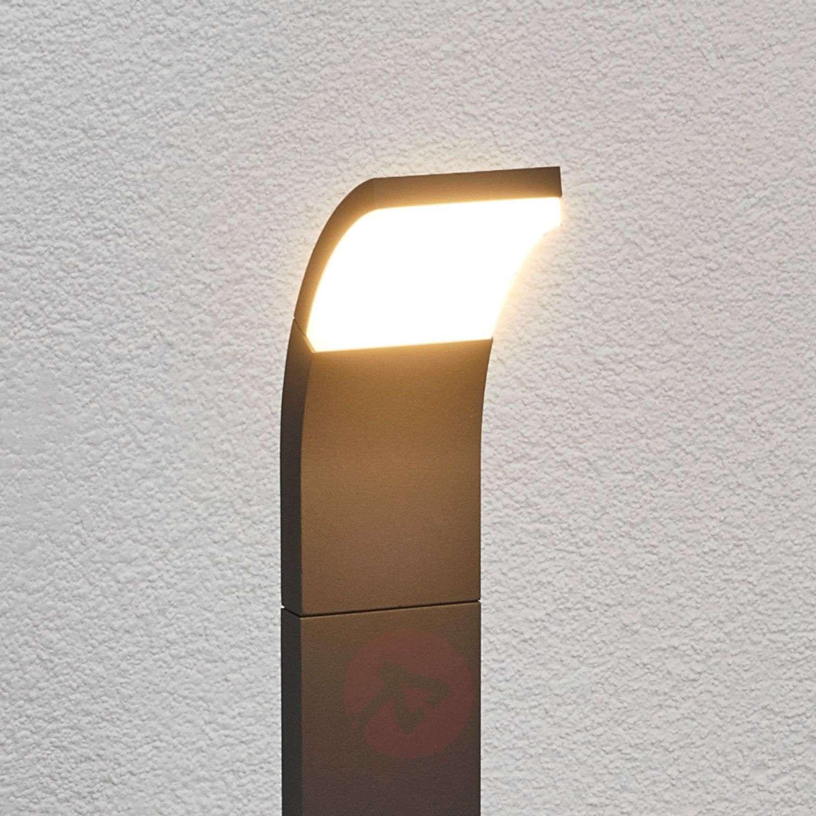 Grafiitinvärinen Timm-LED-pylväsvalaisin, 100 cm-9619051-01