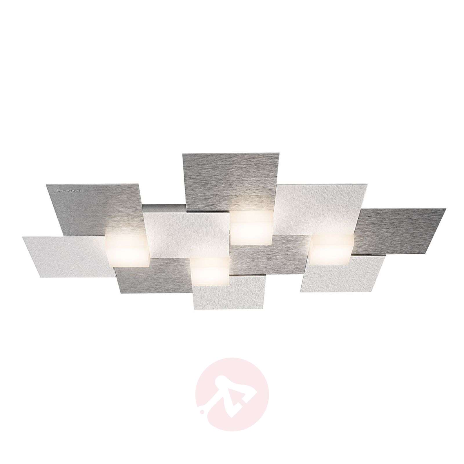 GROSSMANN Creo-kattovalaisin 4-lamp. 55x38,5, alu-4022006-01