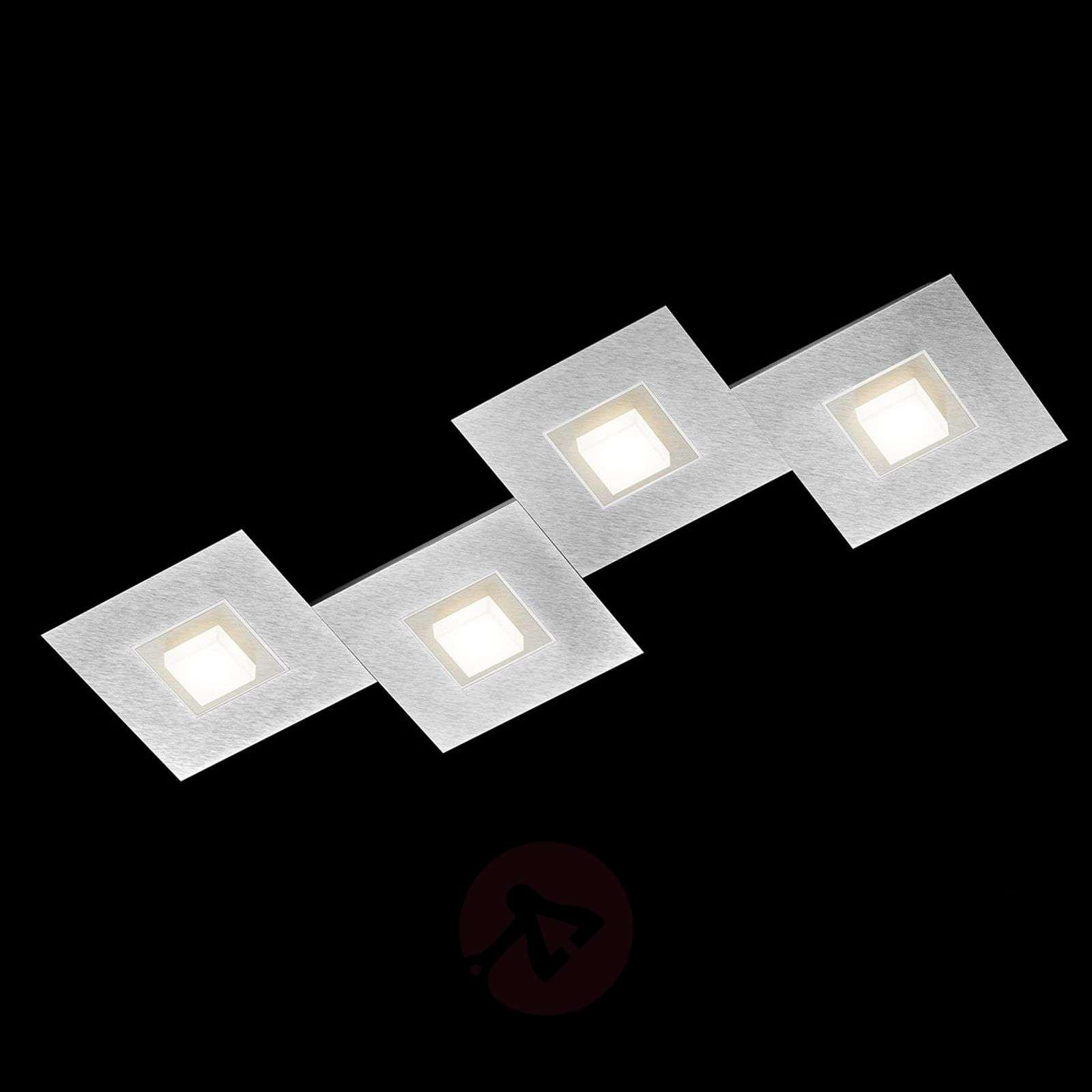 GROSSMANN Karree-LED-kattovalaisin 4-lamp. 80x30-4022045X-01