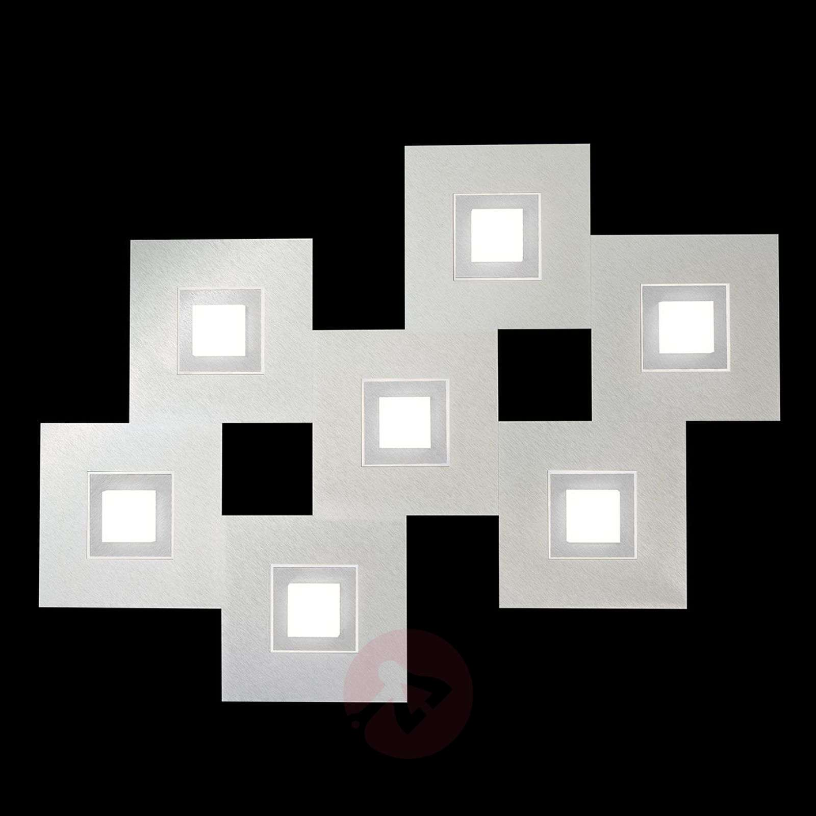 GROSSMANN Karree LED-kattovalaisin, 7-lampp.-4022047X-01