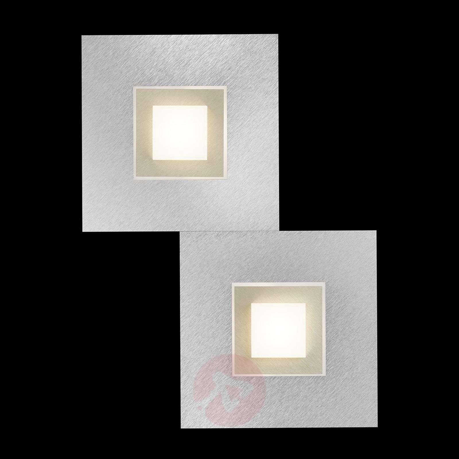 GROSSMANN Karree LED-seinävalaisin, 2-lampp.-4022043X-01