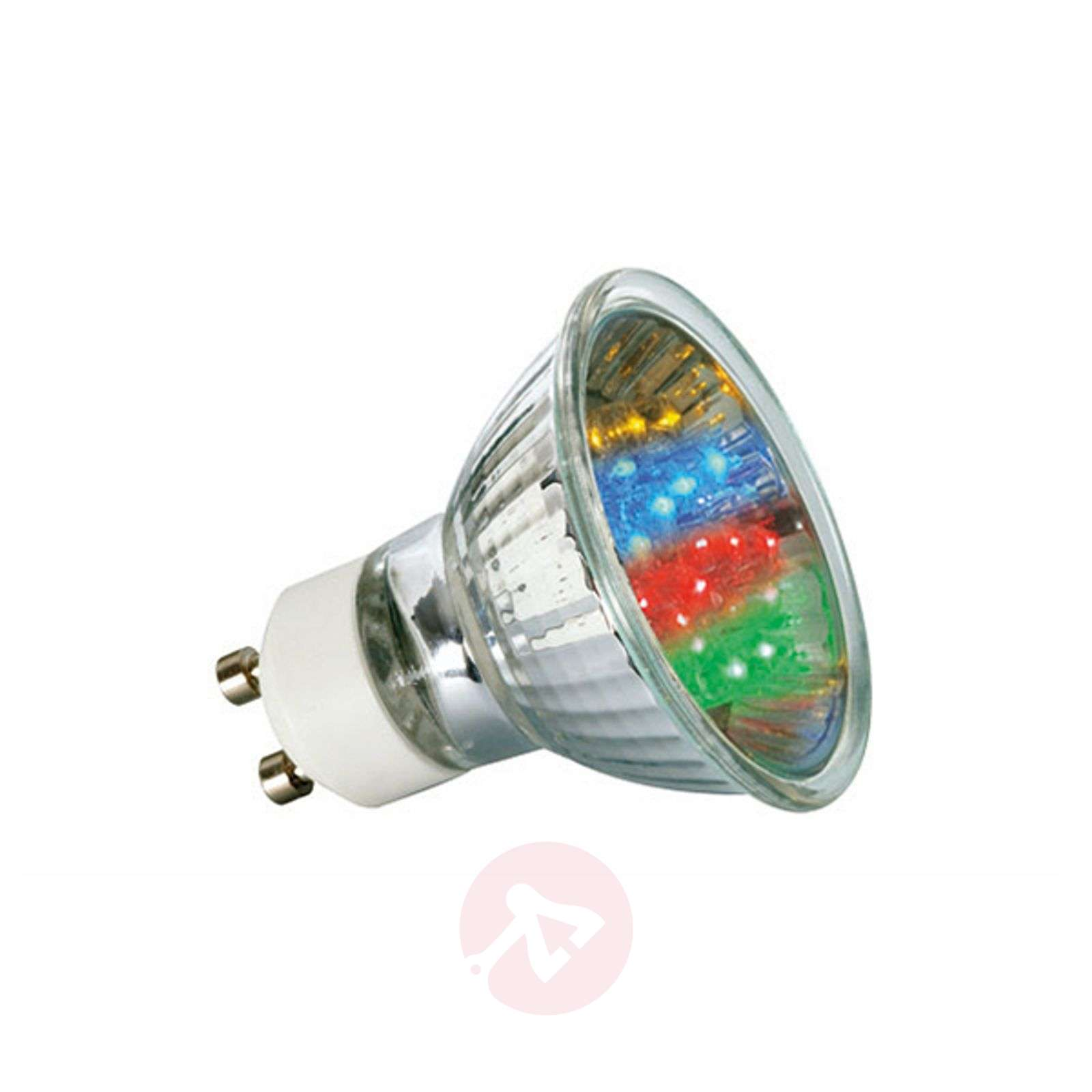 GU10 1W LED-heijastinlamppu, monivärinen-7500151-01