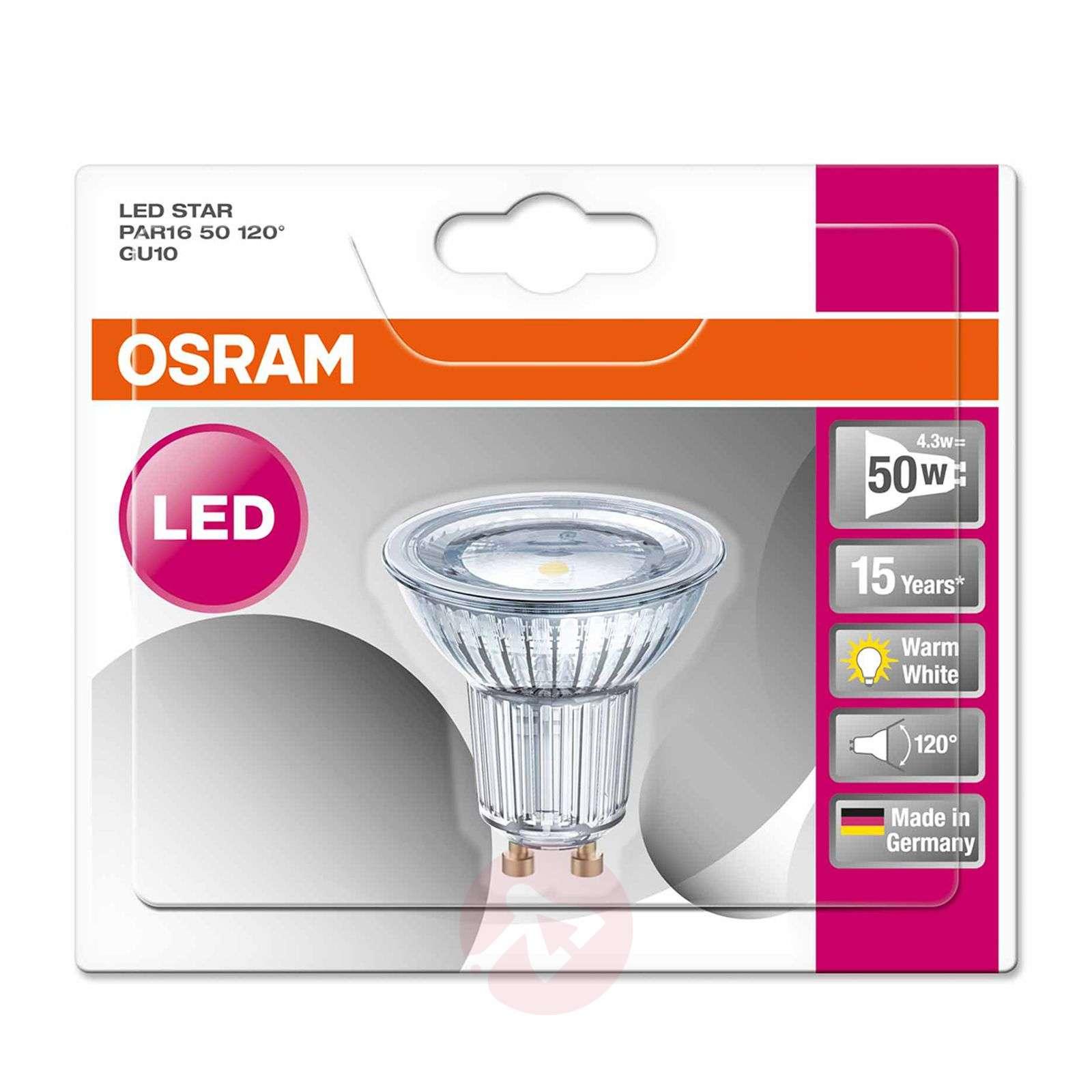 GU10 3,6W 827 LED-lasiheijastinlamppu Star 120degree-7260840-01