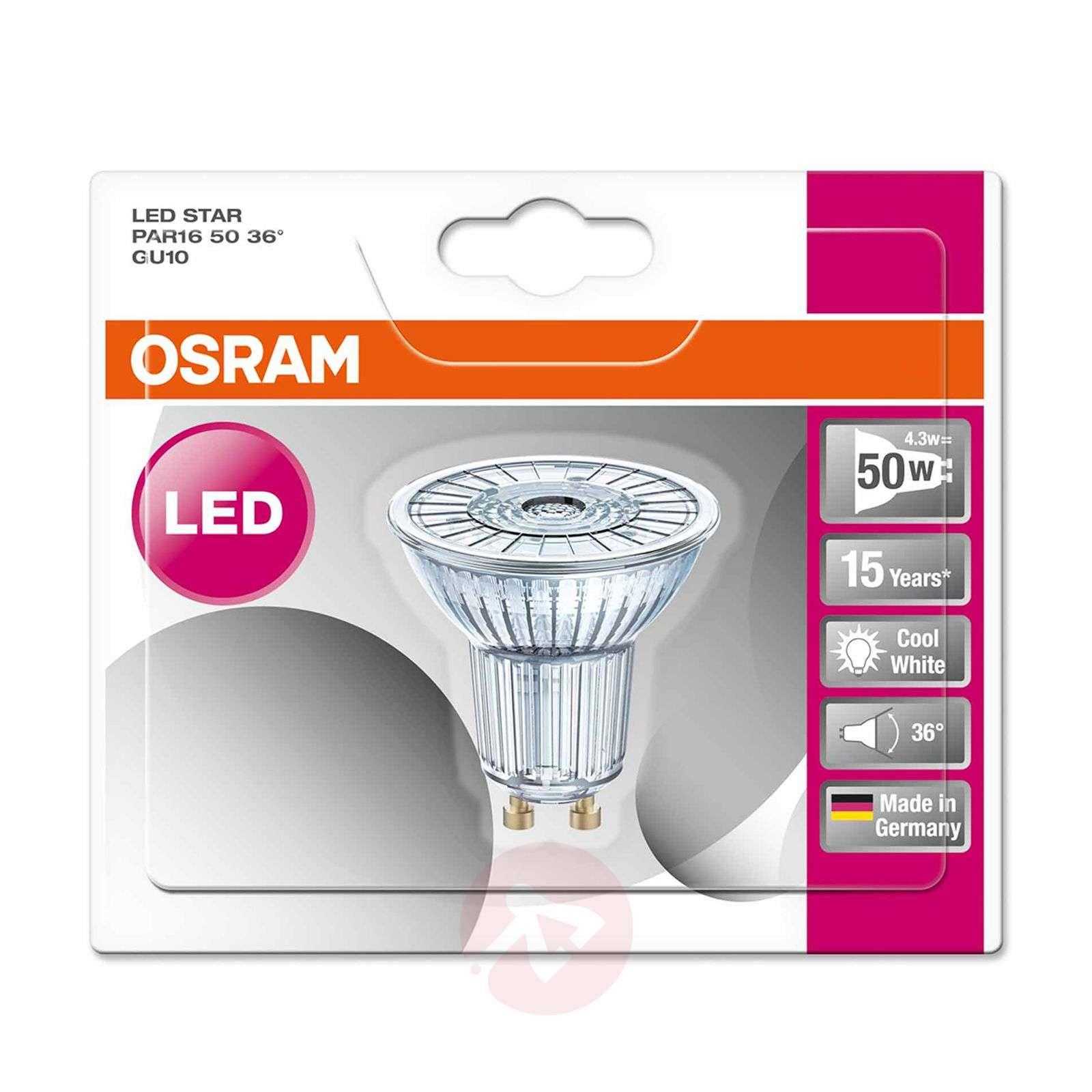 GU10 4,3W 840 LED-lasiheijastinlamppu Star 36degree-7260839-01
