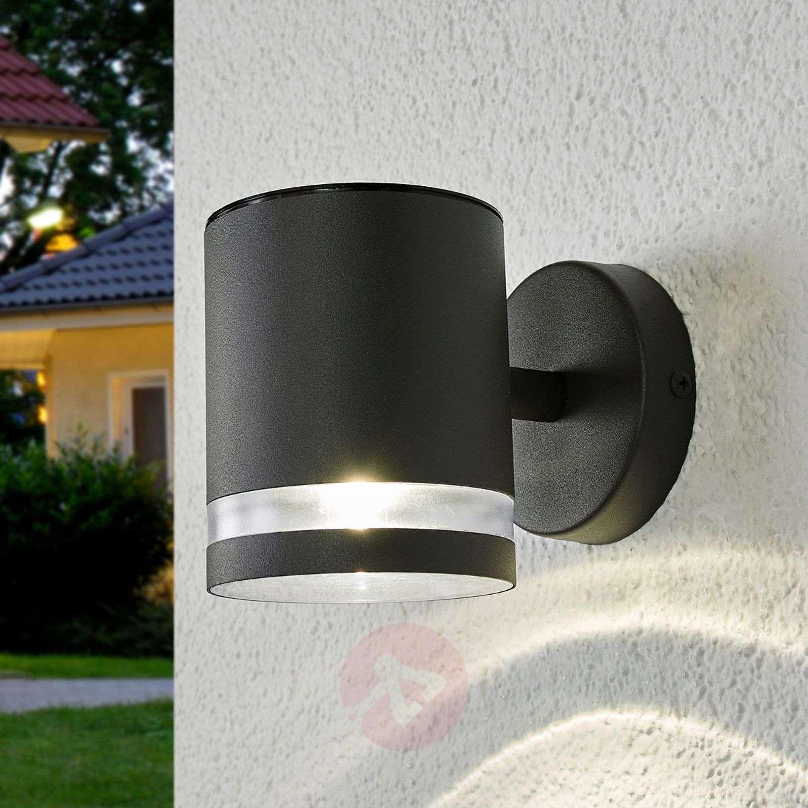 Harmaa aurinkokäyttöinen LED-ulkoseinävalo Melinda-9945269-01