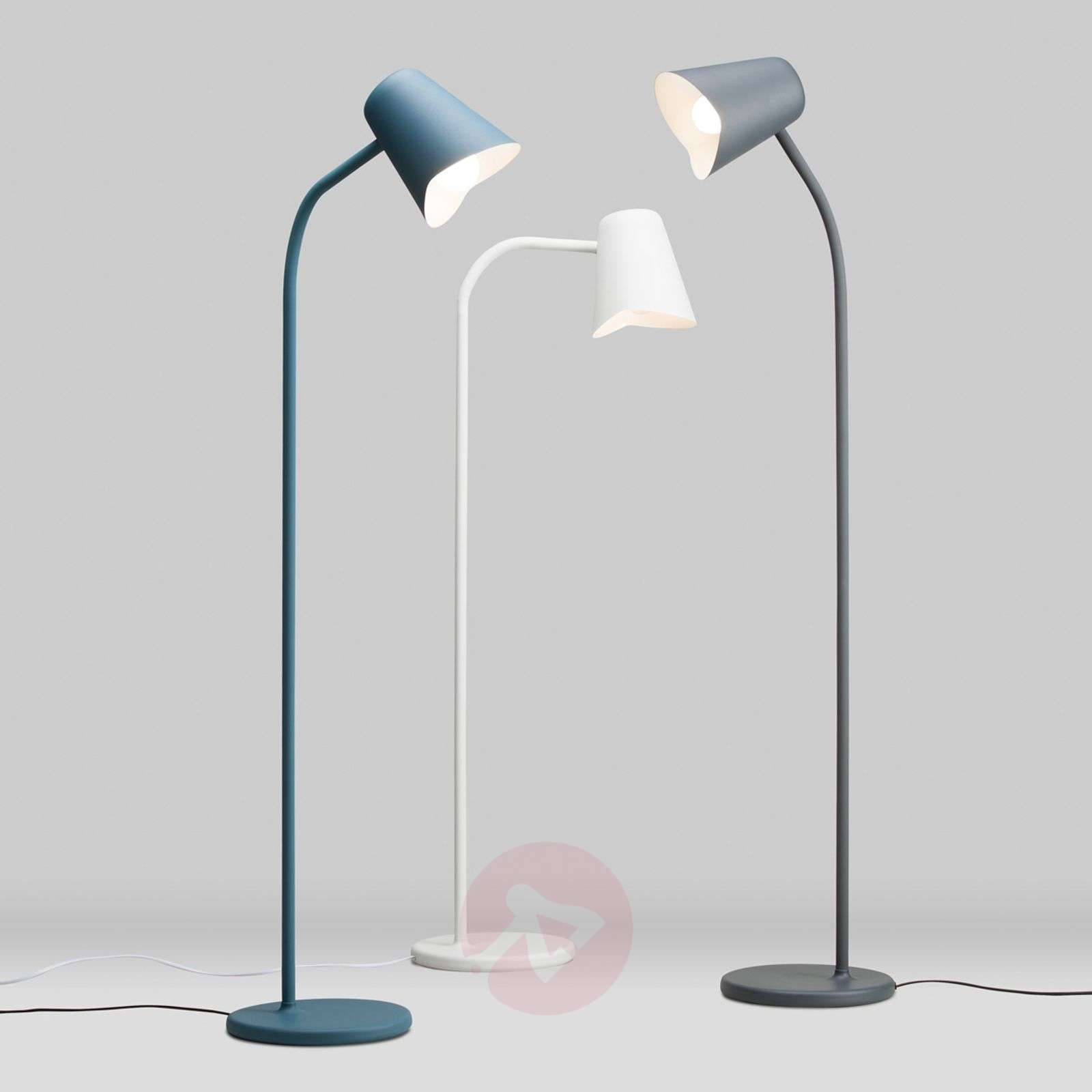 Harmaa design-lattiavalaisin Me-7013069-01