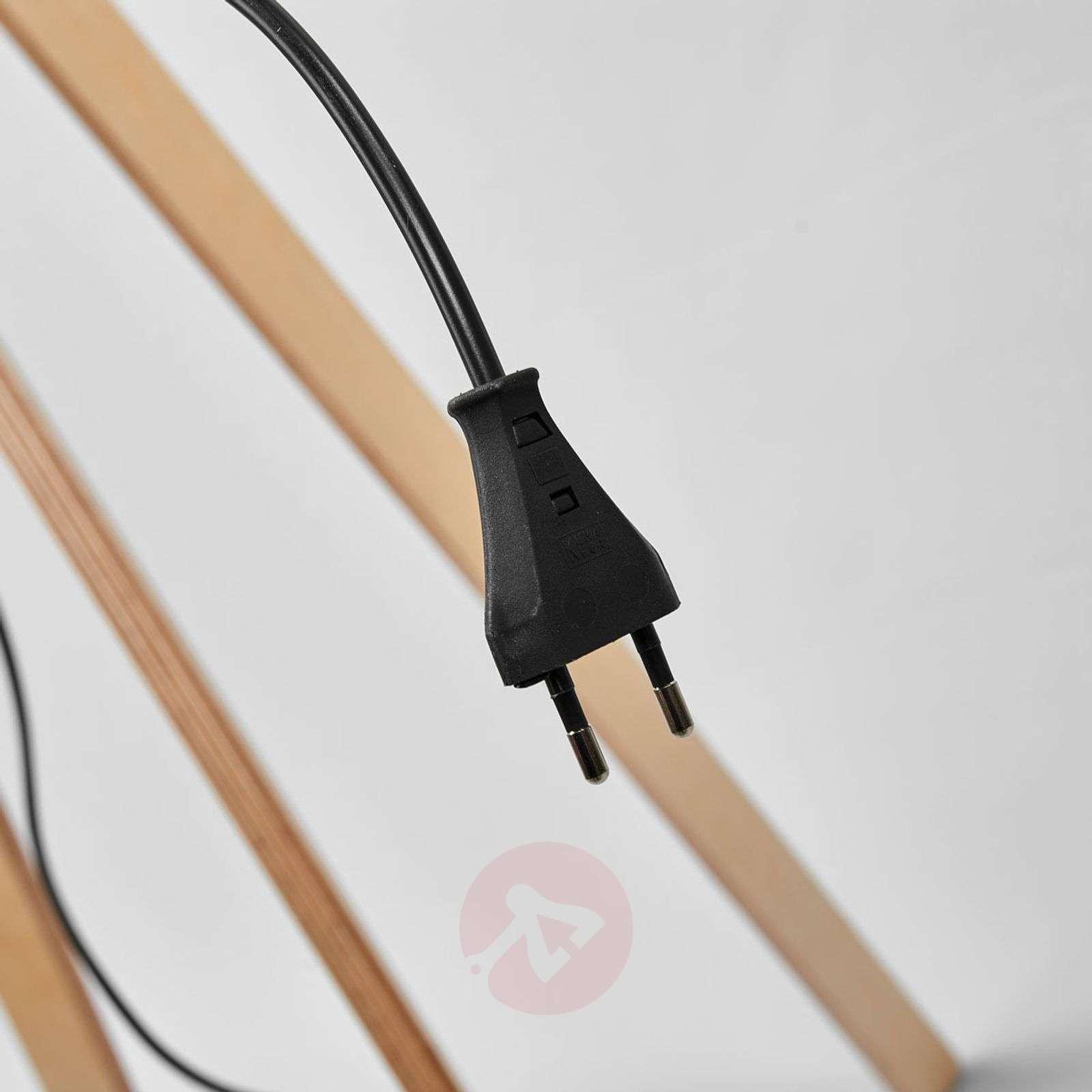 Harmaa huopavarjostin puinen Thea-lattiavalaisin-6722430-01