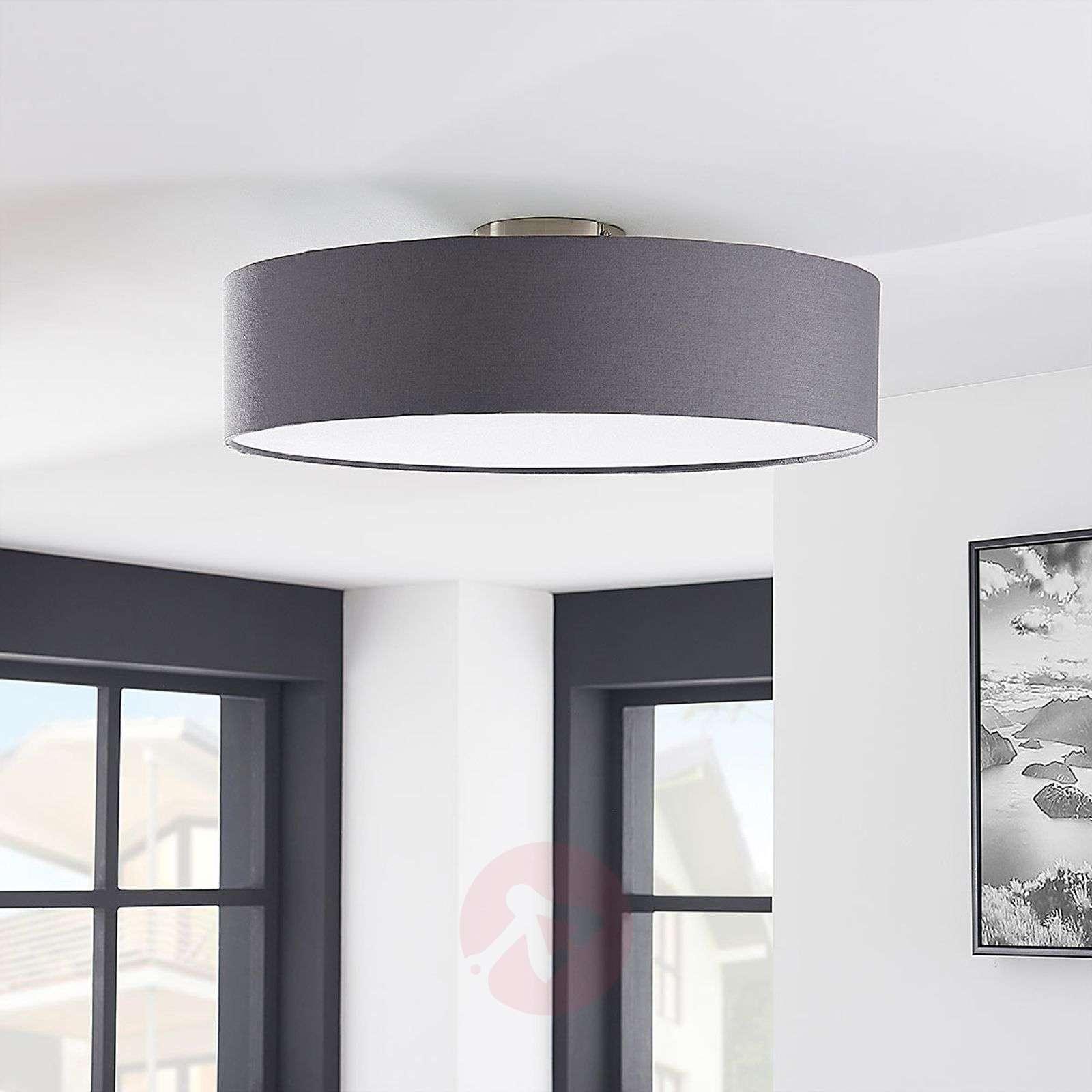 Harmaa LED-kattovalaisin Sebatin, kangasta-9620330-02