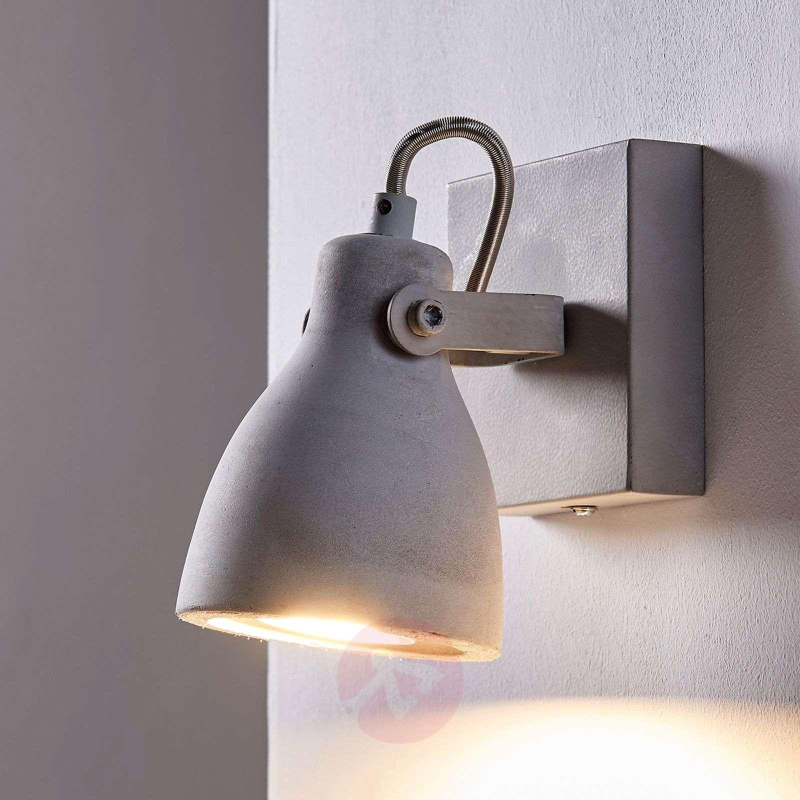 Harmaa LED-spotti Kadiga, betonia