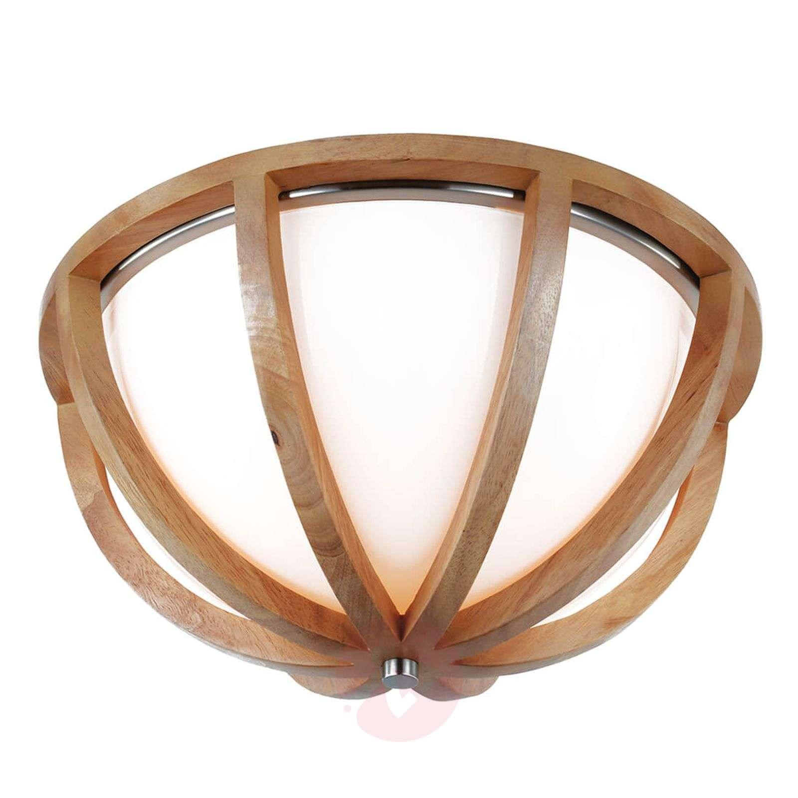 Harmonisesti muotoiltu, puinen Allier-kattolamppu-3048719-01