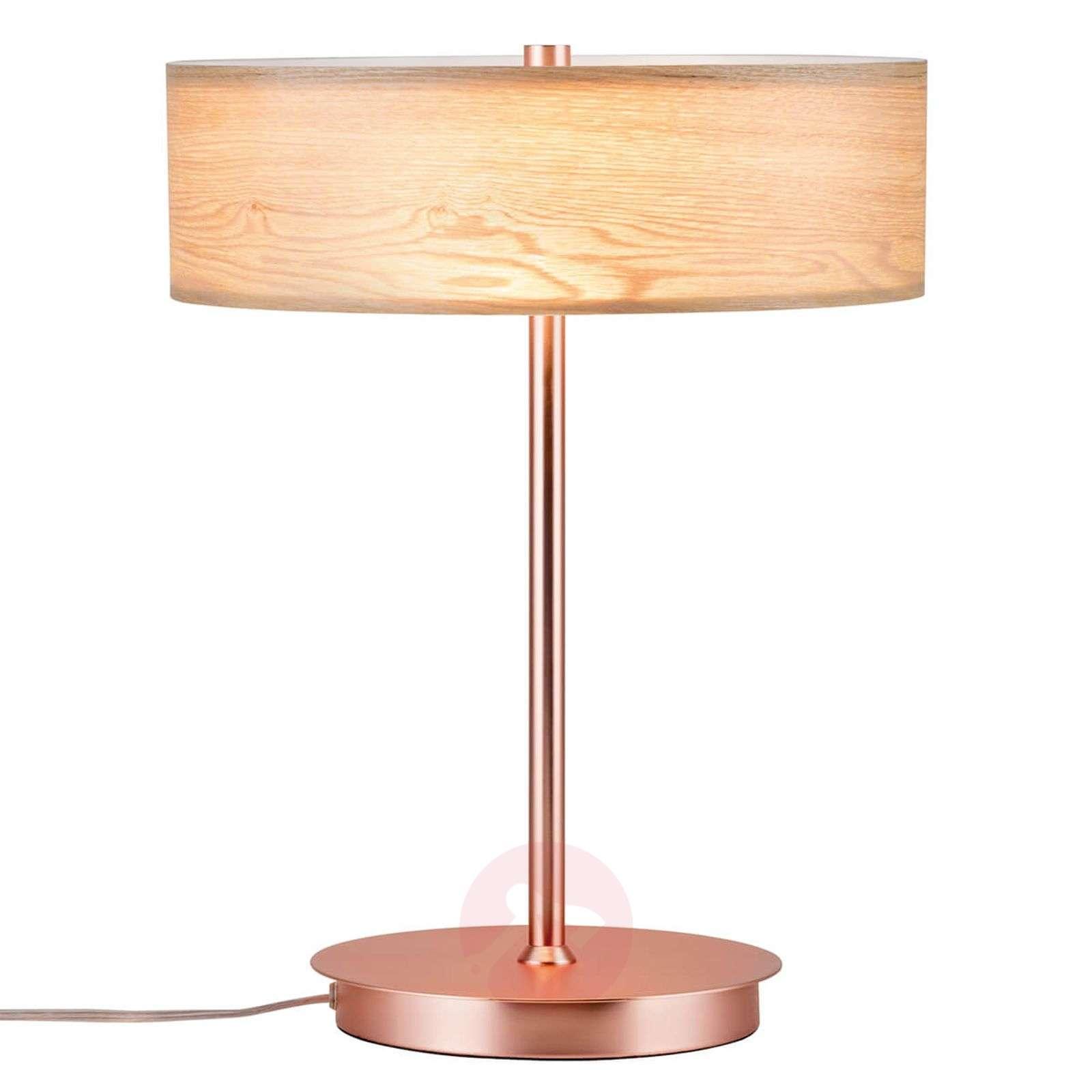 Harmonisesti muotoiltu puinen Liska-pöytälamppu-7601087-01
