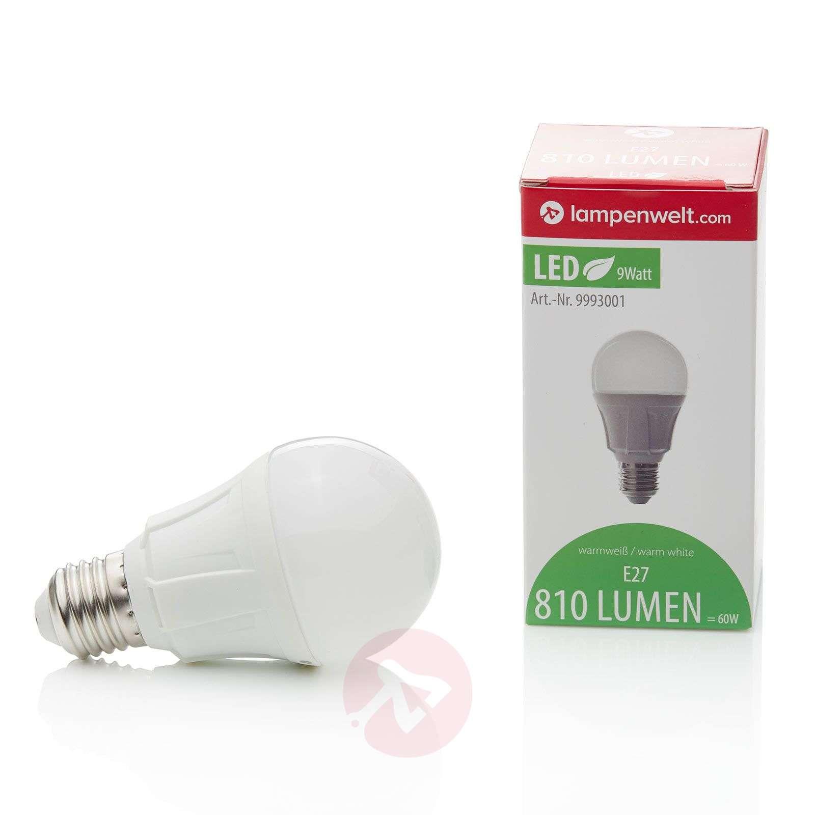 Hehkulampun muotoinen LED-lamppu E27 9W 830-9993001-02