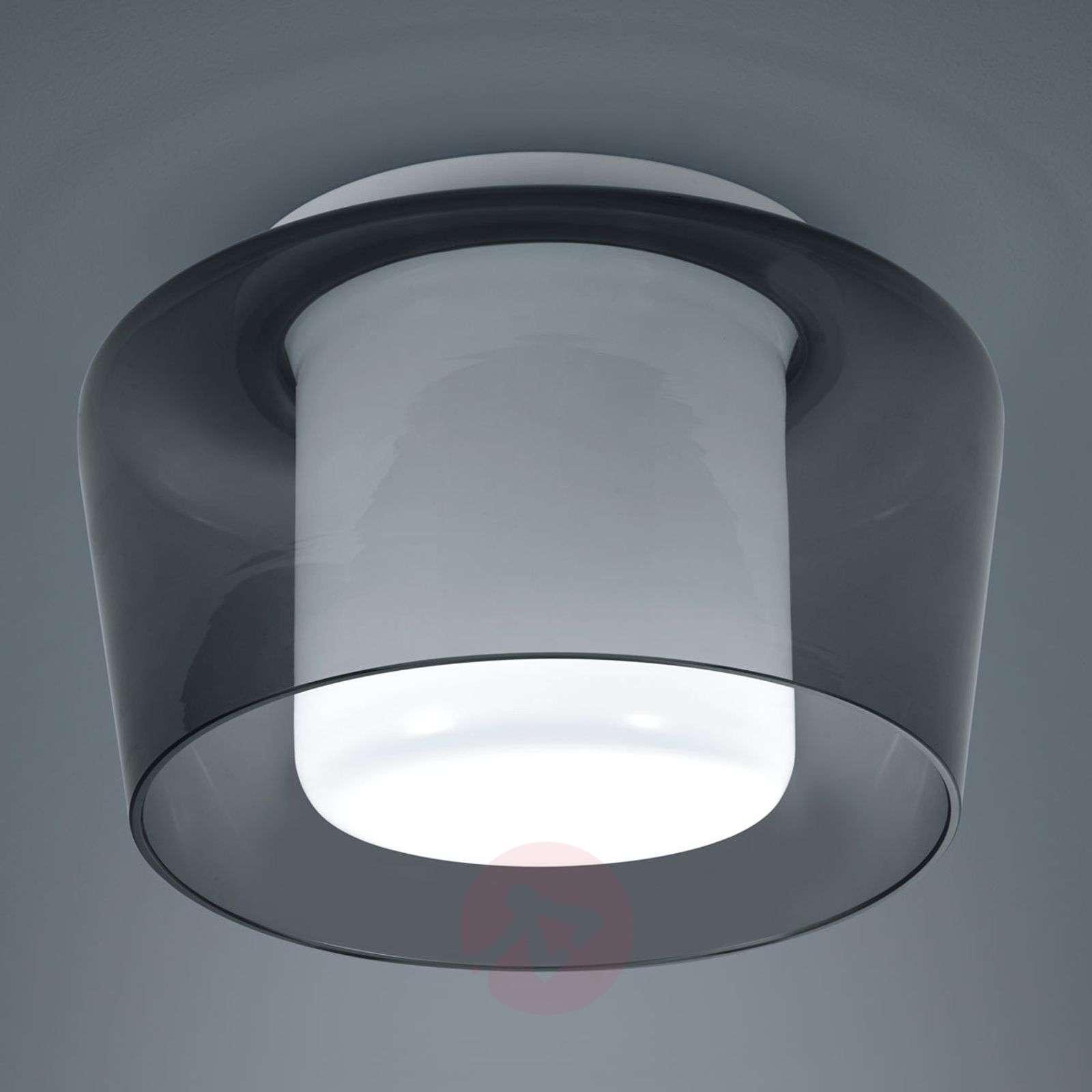 Helestra Canio lasinen kattolamppu, savunharmaa-4516952-01