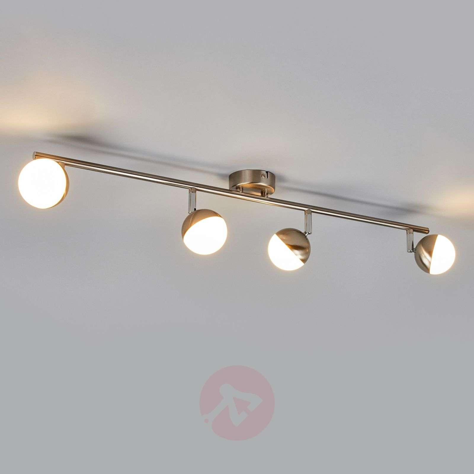 Hillitty LED-kattovalaisin Jonne, matta nikkeli-9987058-04