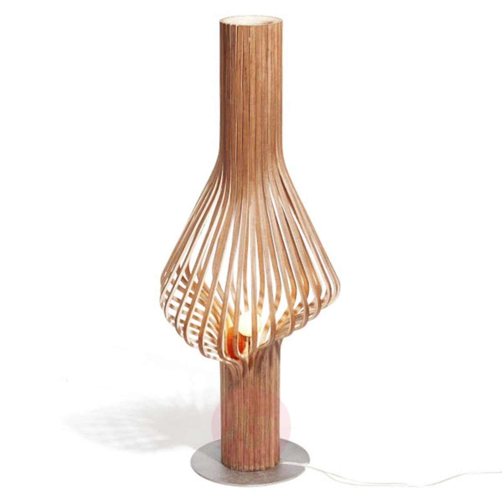 Himmennettävä design-lattiavalaisin Diva, puuta-7013001X-01