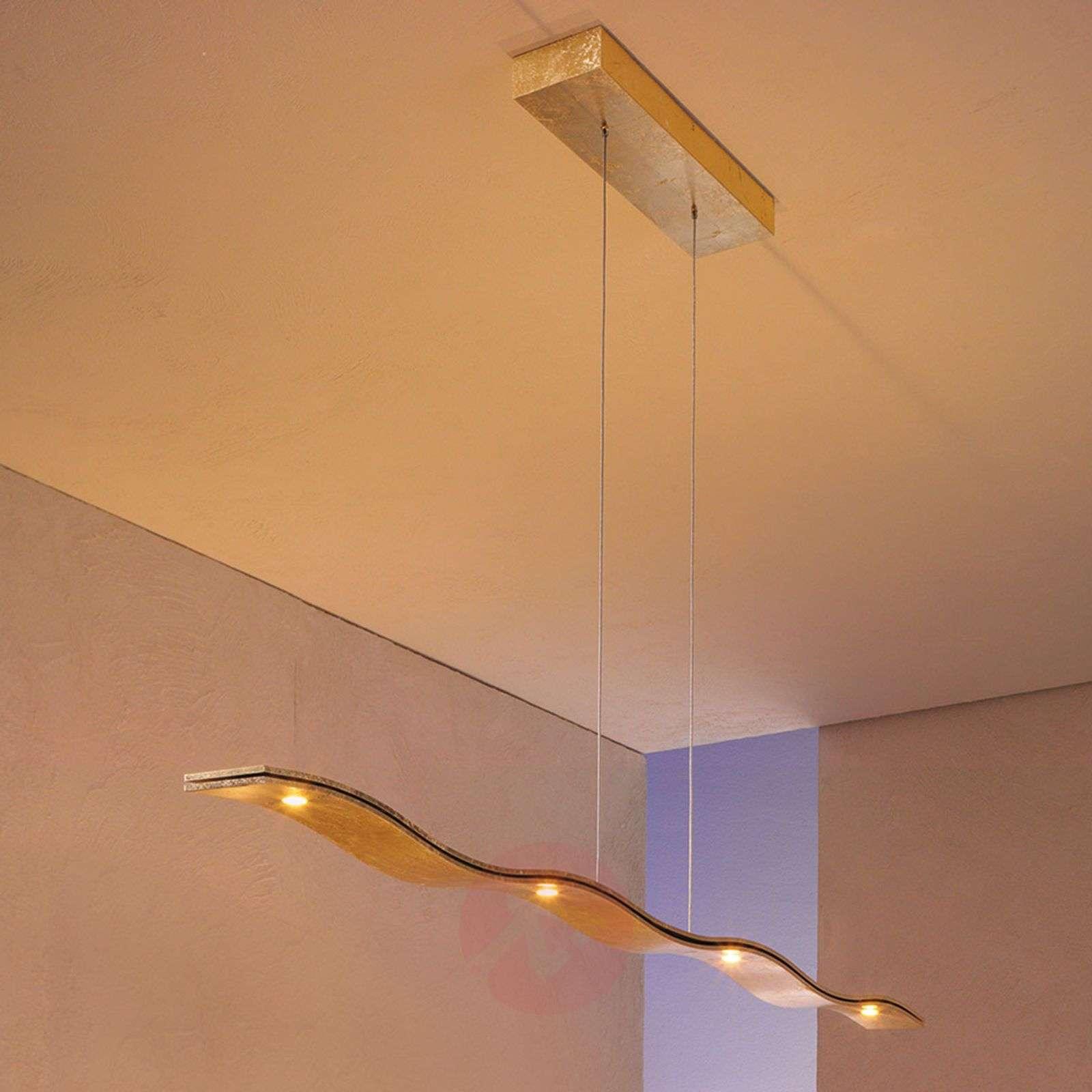 Himmennettävä LED-riippuvalaisin Fluid, lehtikulta-3051027-01