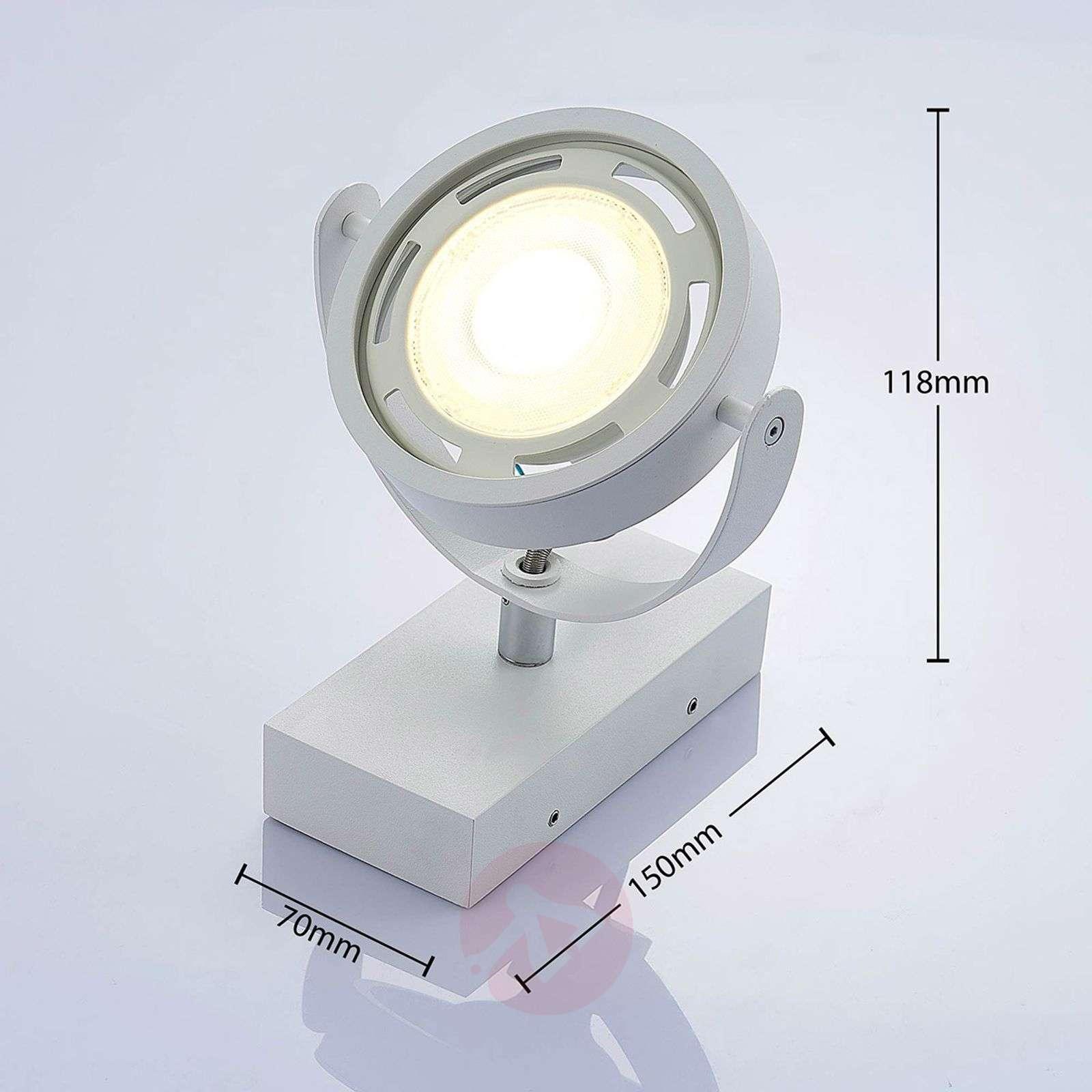 Himmennettävä LED-spotti Munin valkoinen-9621877-02