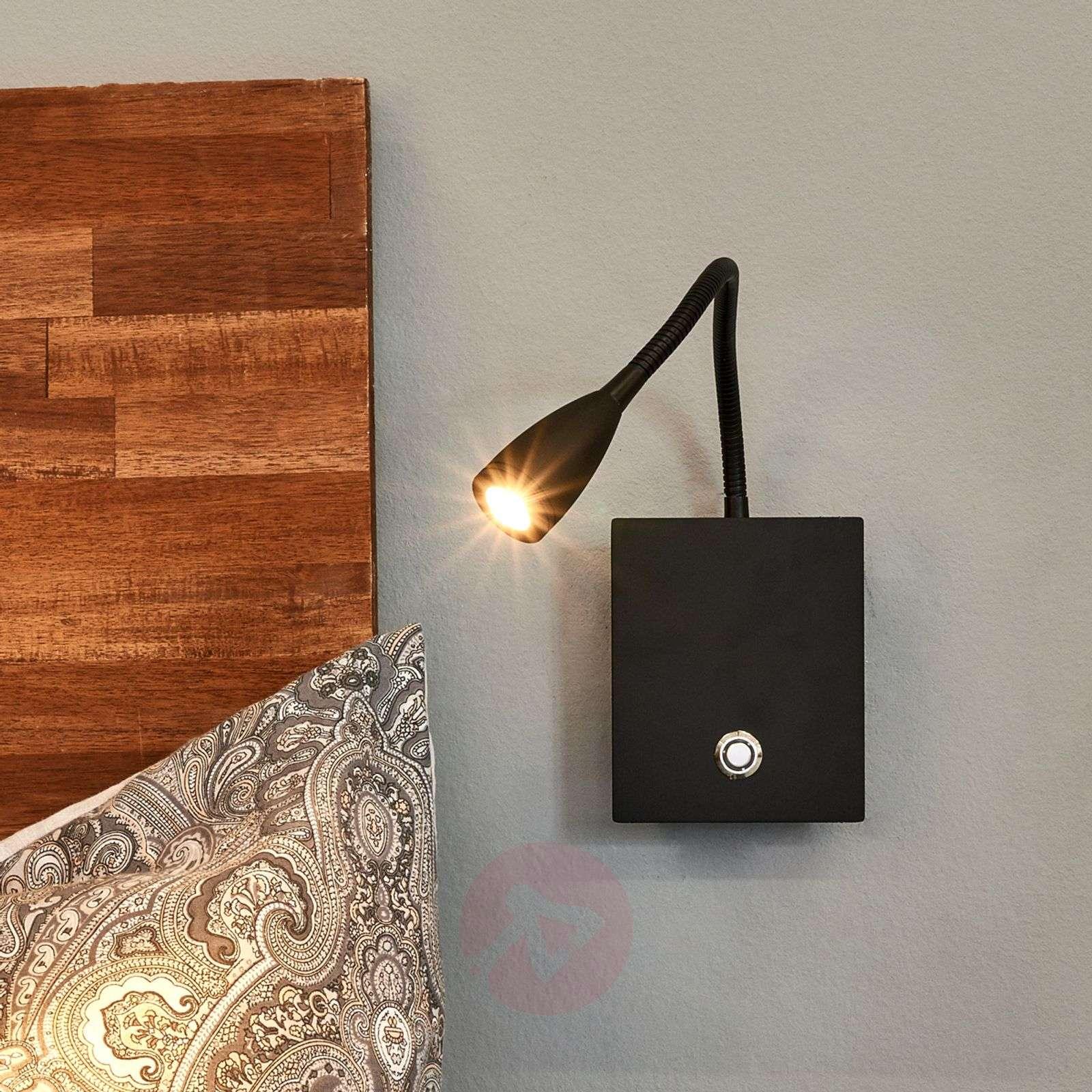 Himmennettävä Torin-LED-seinälamppu joustovarrella-9976006-07
